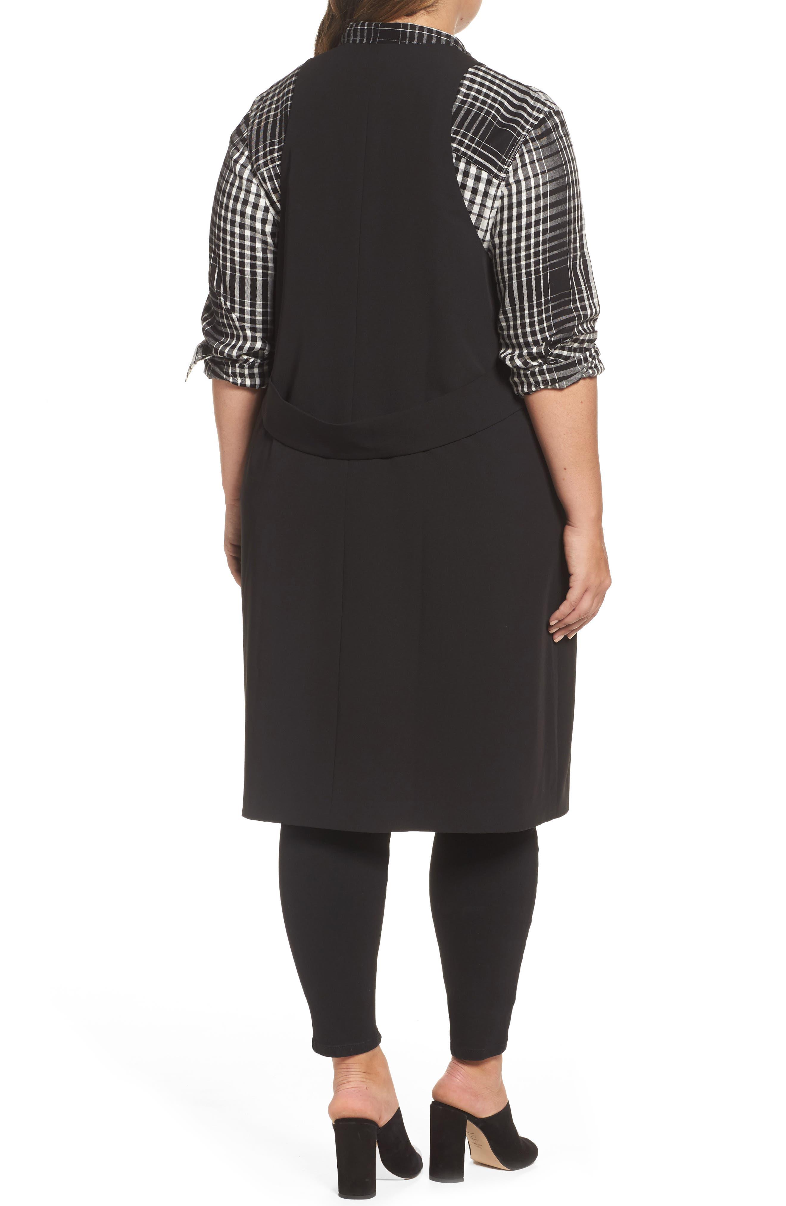 Alternate Image 2  - Melissa McCarthy Seven7 Open Front Longline Vest (Plus Size)