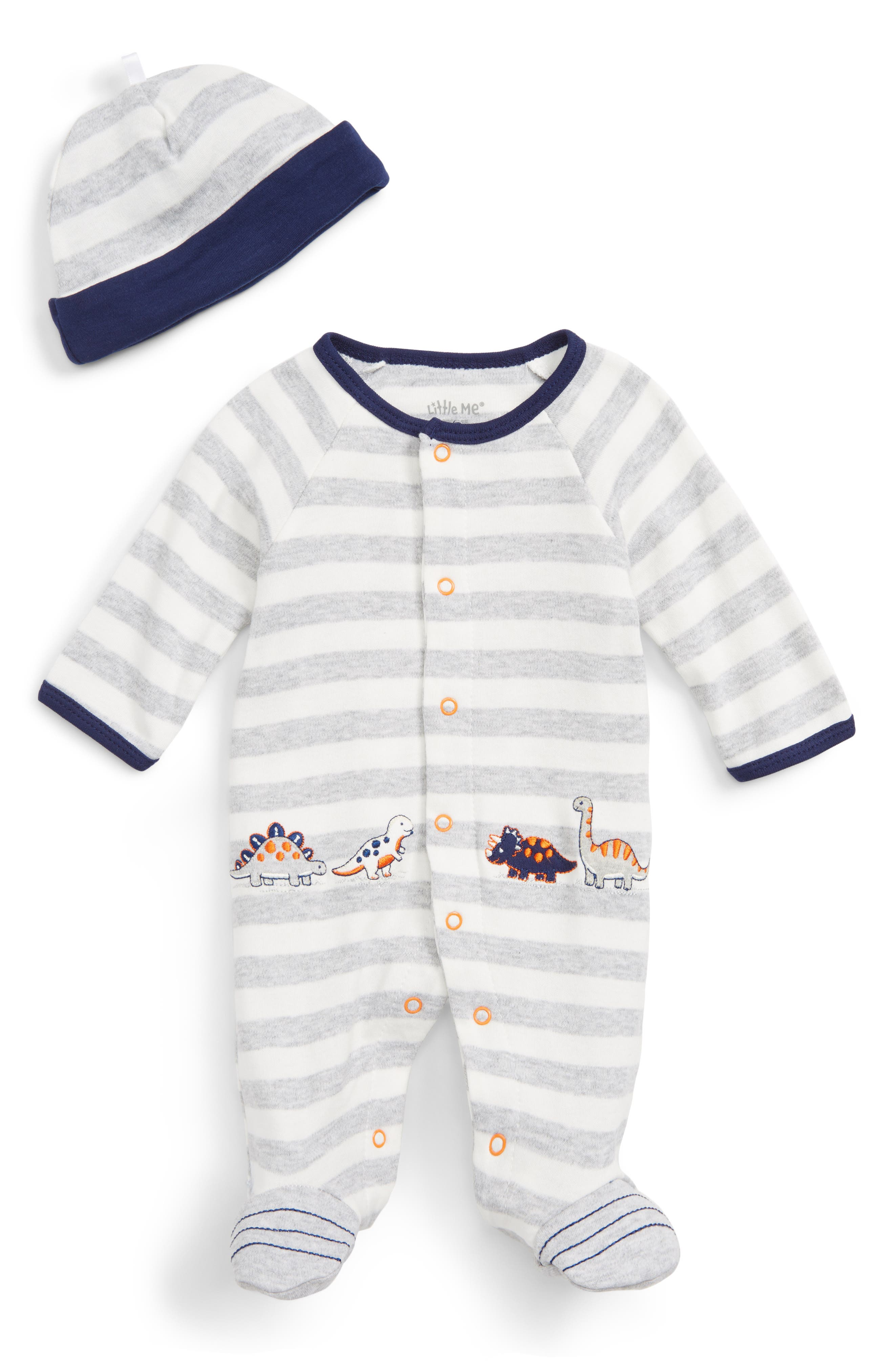 Little Me Dino Footie & Hat Set (Baby Boys)