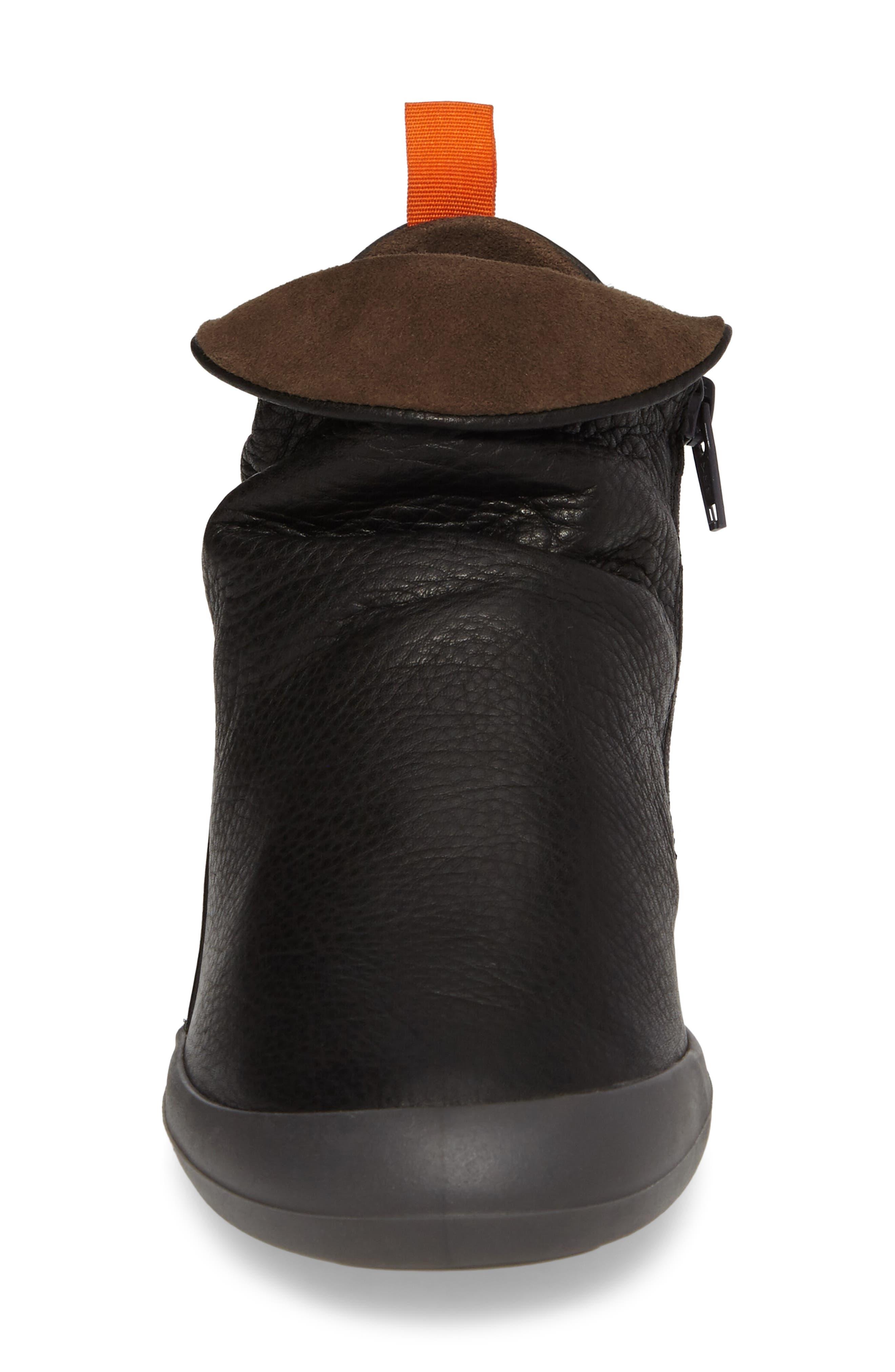 Farah Bootie,                             Alternate thumbnail 4, color,                             Black/ Brown Leather