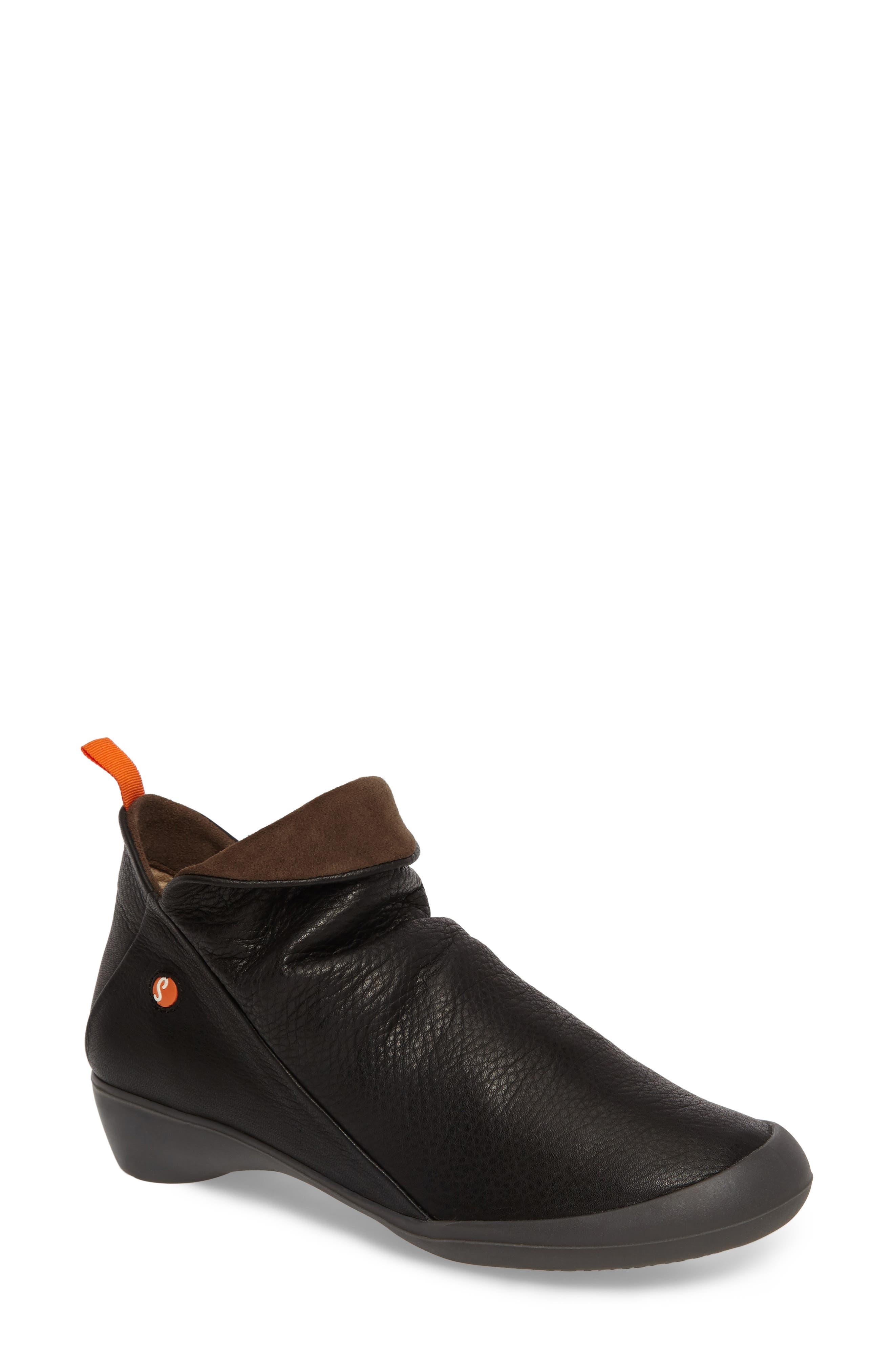 Farah Bootie,                         Main,                         color, Black/ Brown Leather