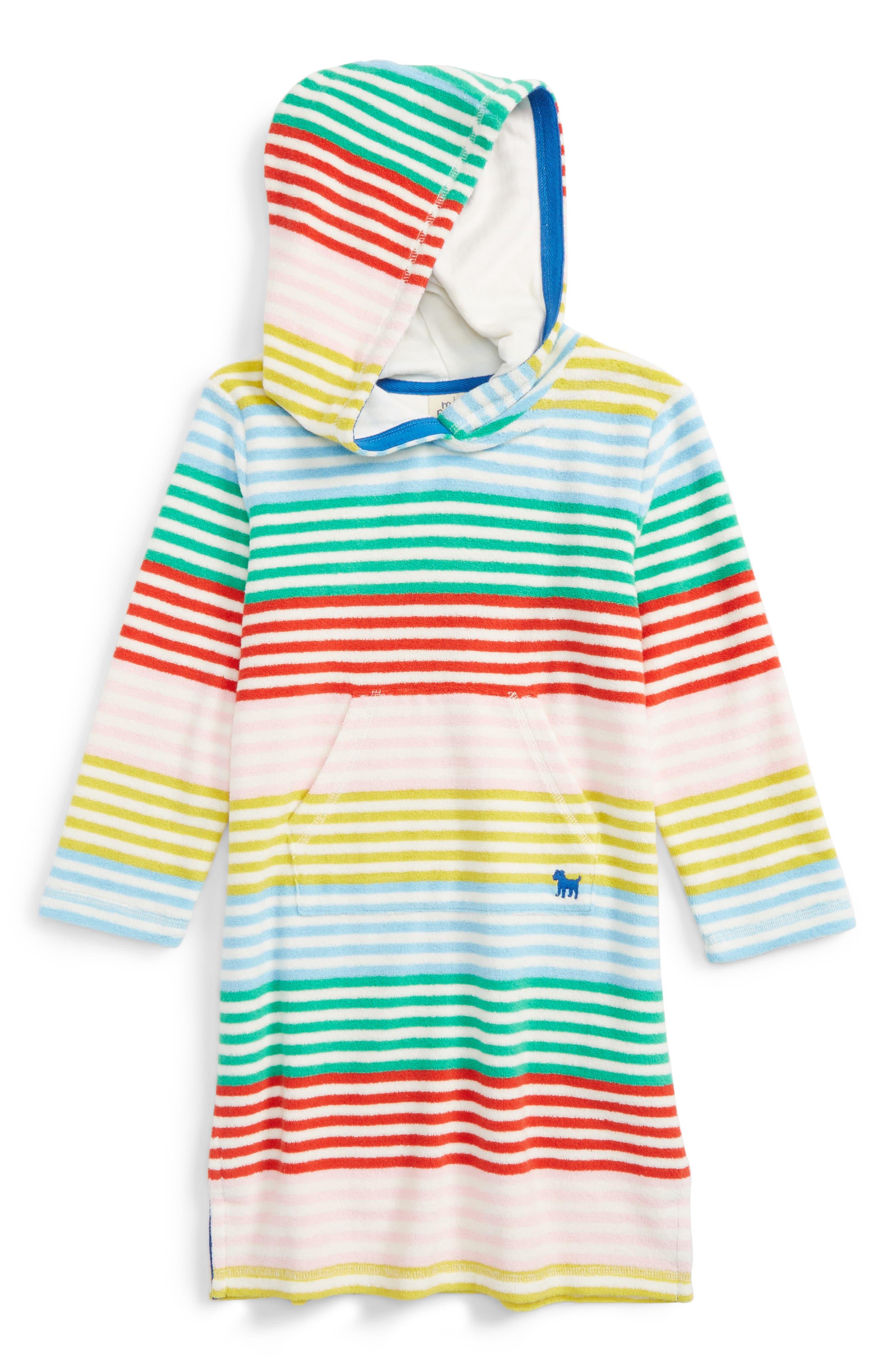 Mini Boden Print Towelling Beach Dress (Toddler Girls, Little Girls & Big Girls)