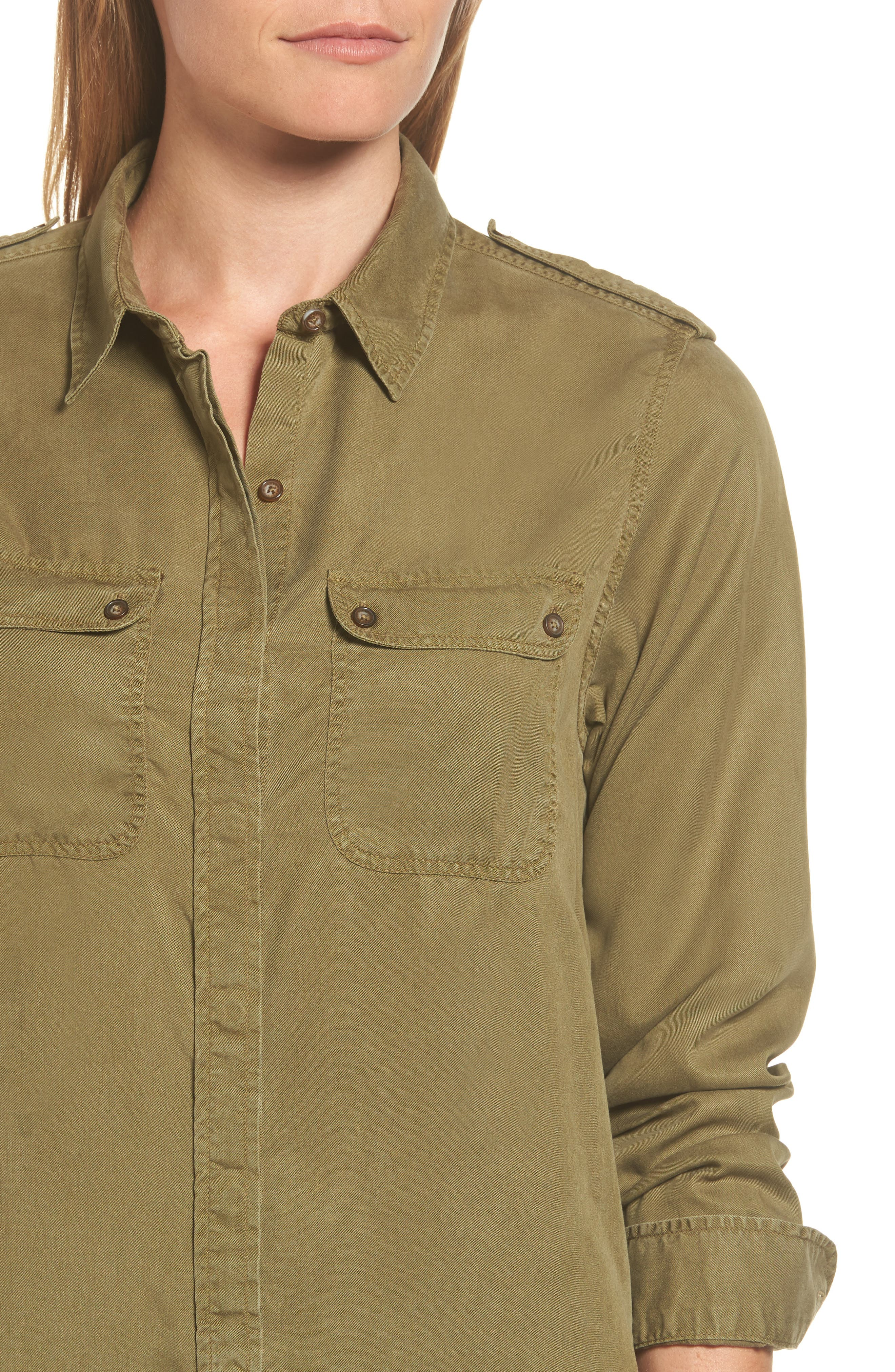 Alternate Image 4  - Barbour Langley Military Twill Dress