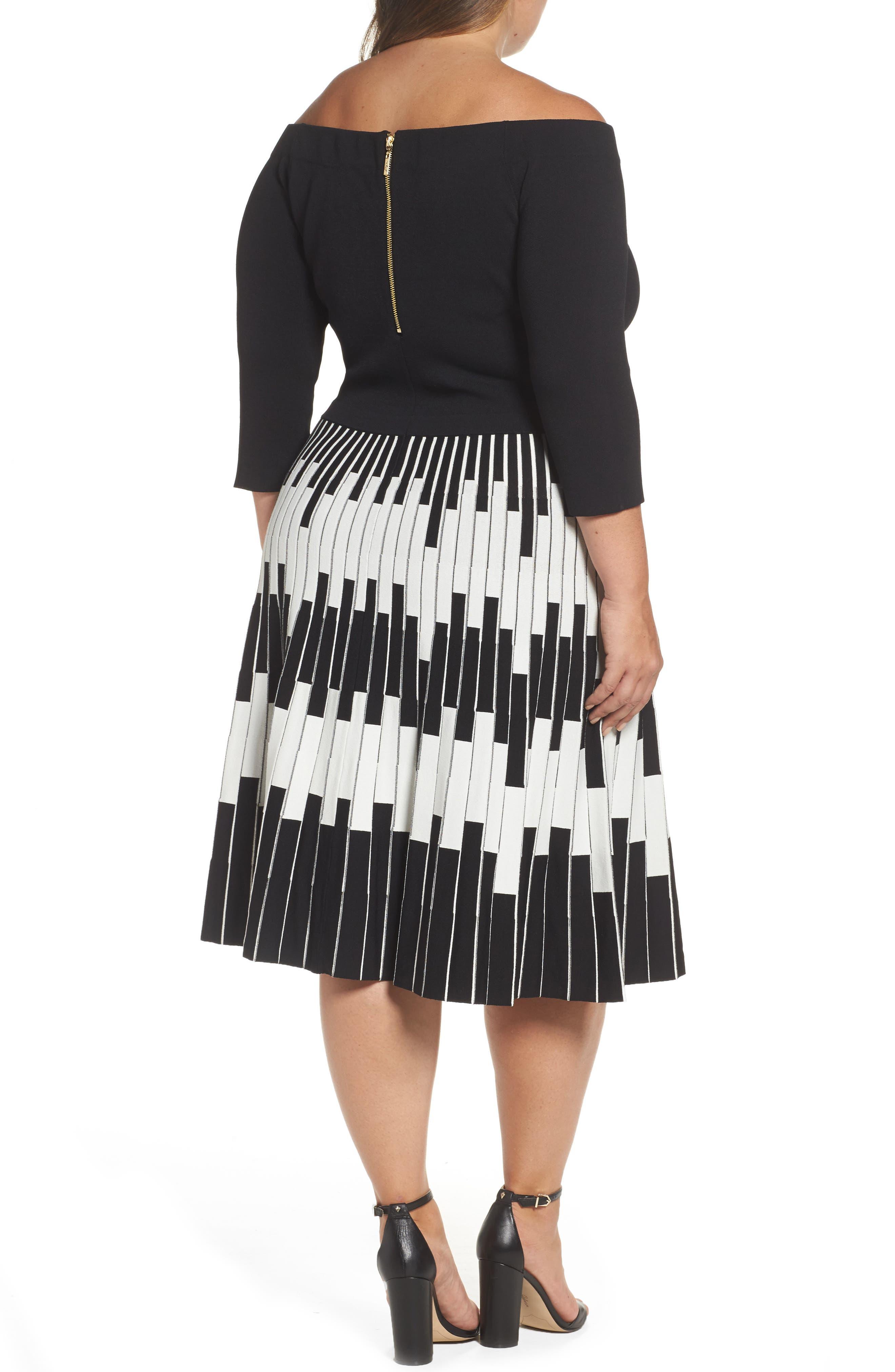 Alternate Image 2  - Eliza J Knit Fit & Flare Dress (Plus Size)