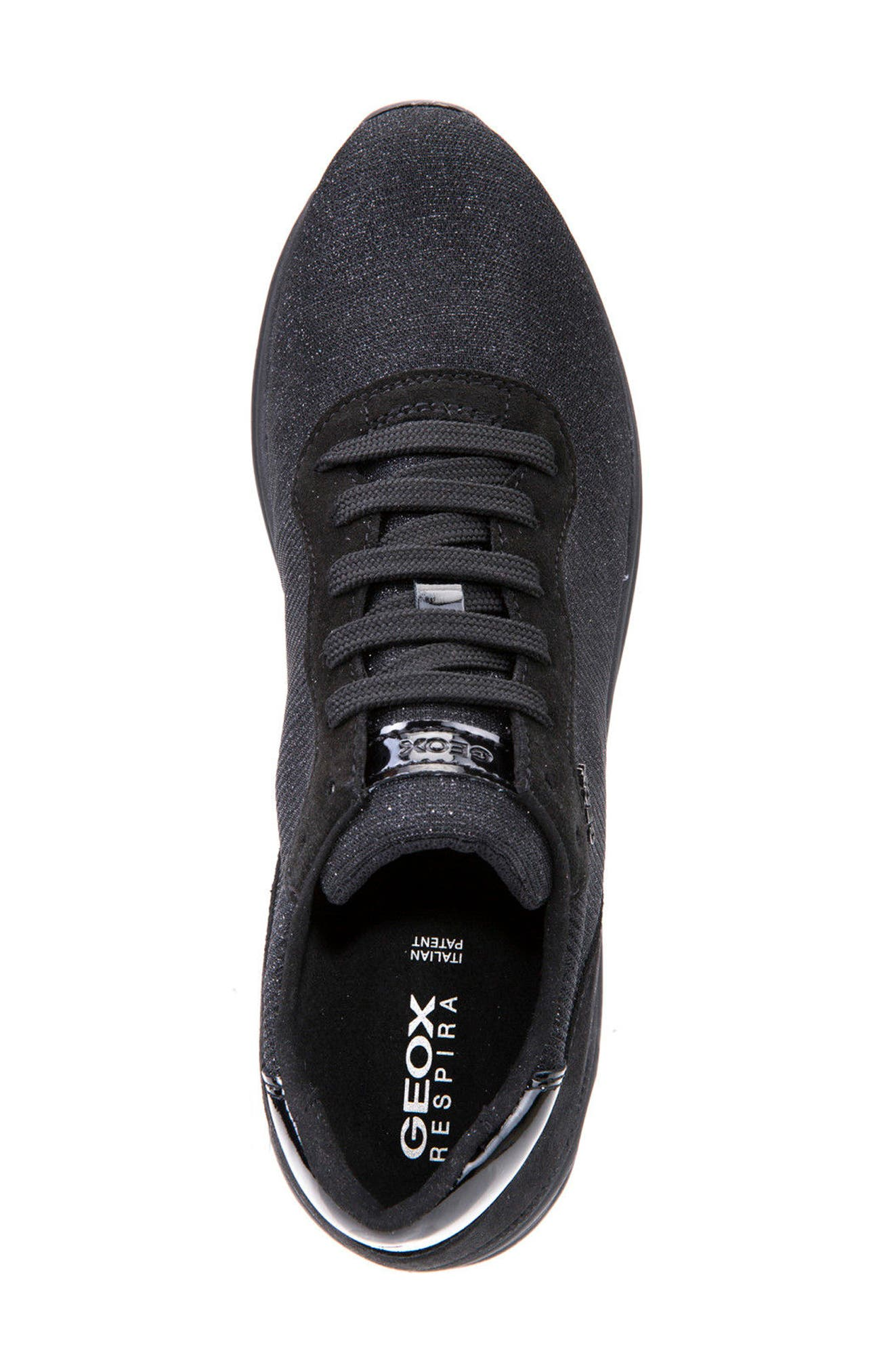 Airell Sneaker,                             Alternate thumbnail 5, color,                             Black Fabric