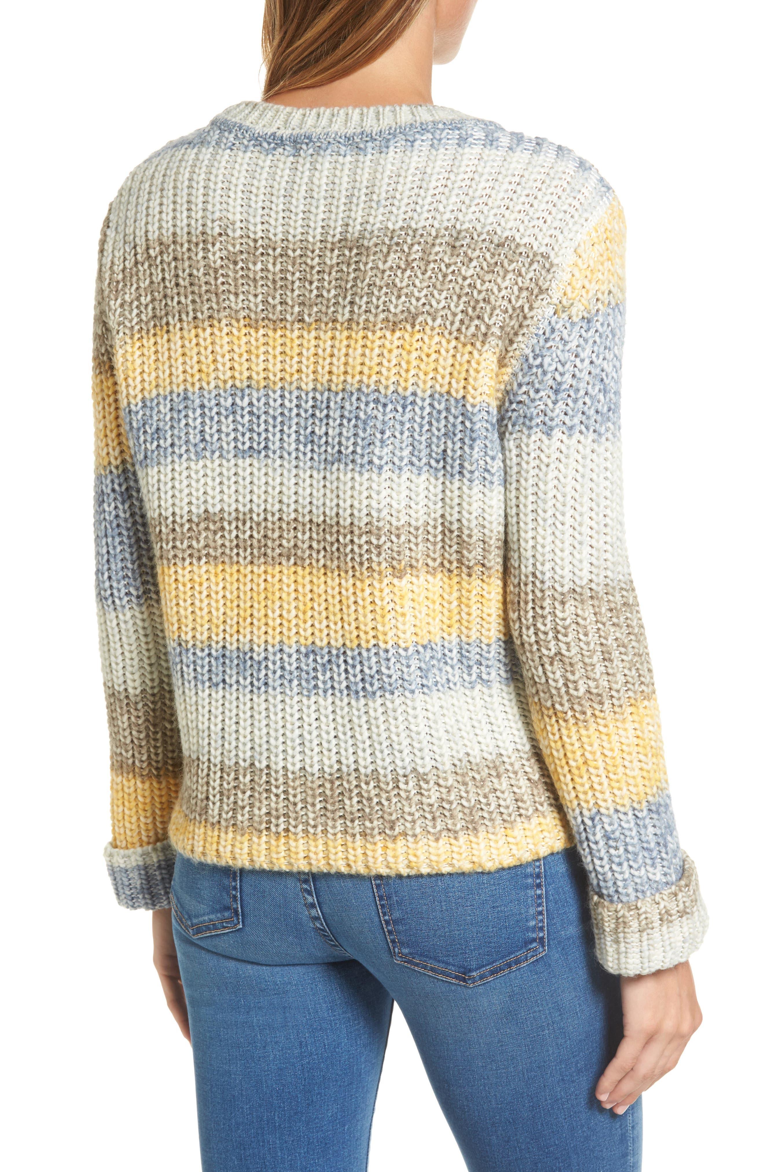 Hive Knit Fisherman Sweater,                             Alternate thumbnail 2, color,                             Sun Gold