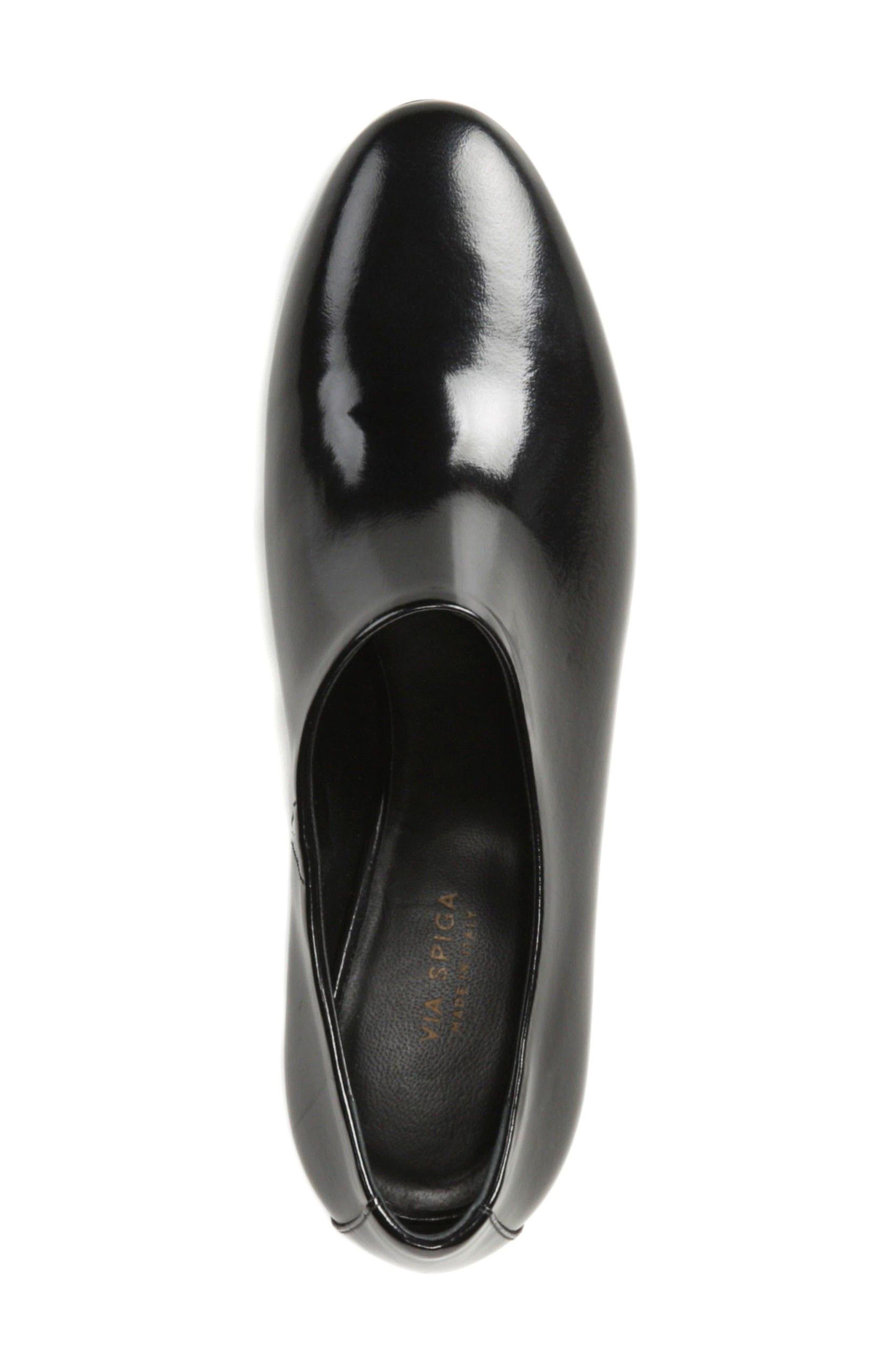 Josie Pump,                             Alternate thumbnail 4, color,                             Black Leather