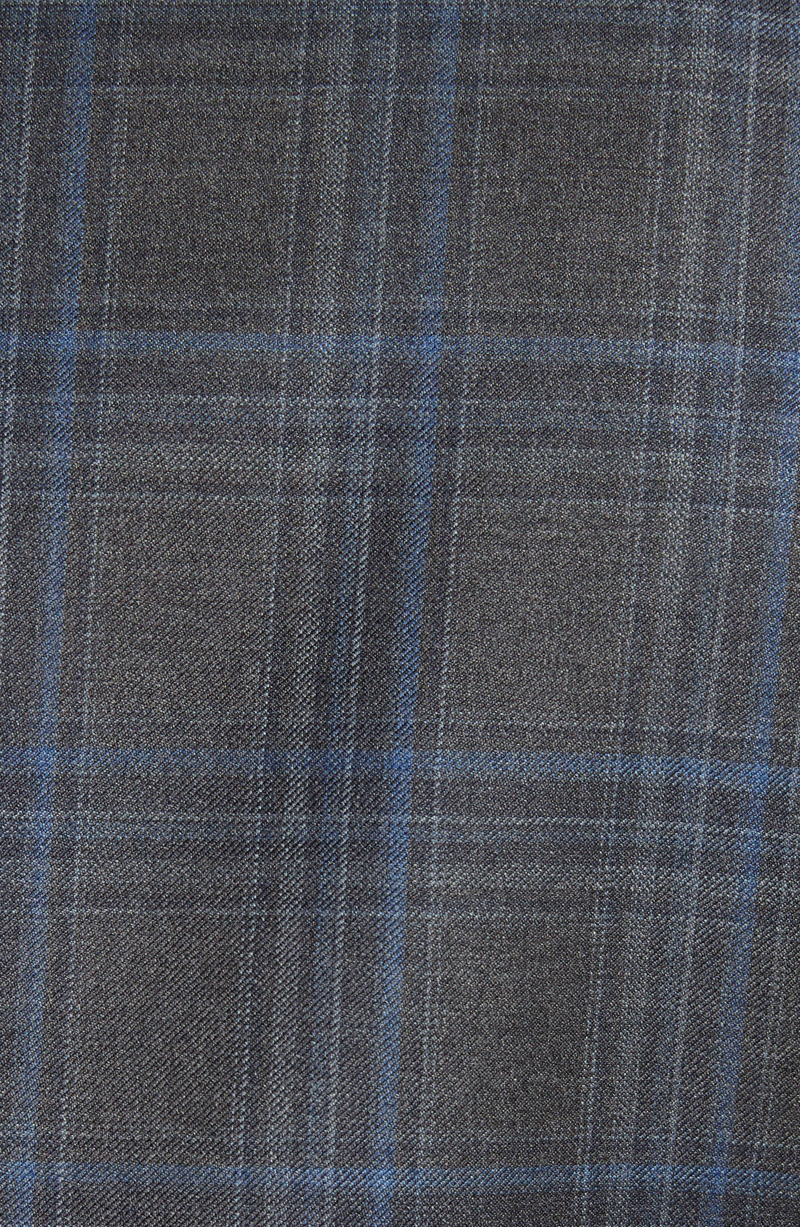 Classic Fit Plaid Wool Sport Coat,                             Alternate thumbnail 5, color,                             Grey