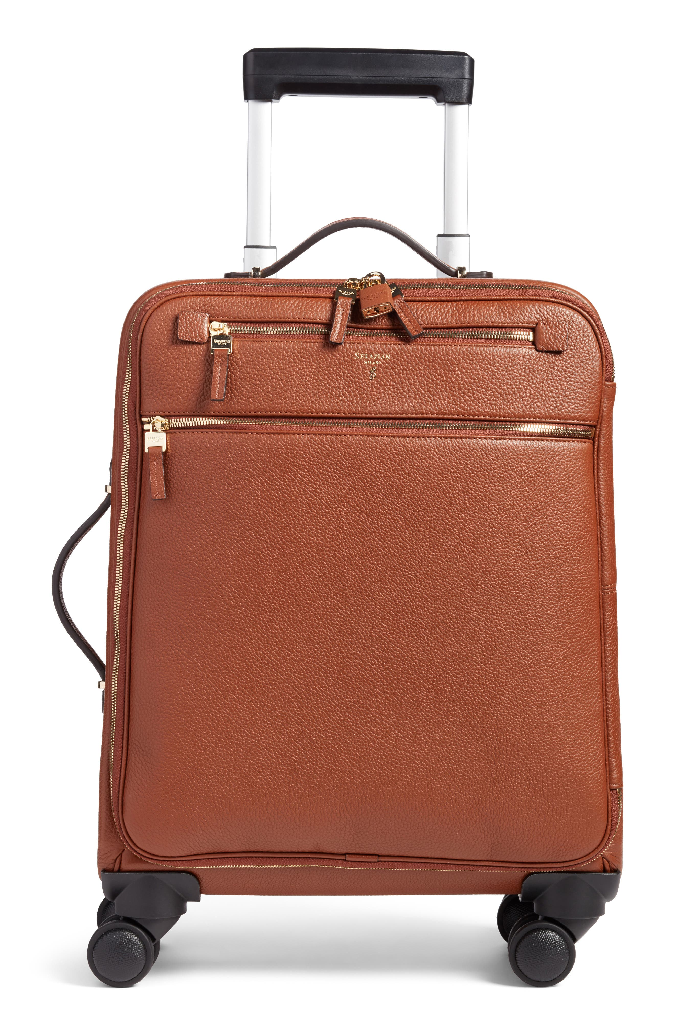 Trolley Spinner Wheeled Carry-On Suitcase,                             Main thumbnail 1, color,                             Sienna