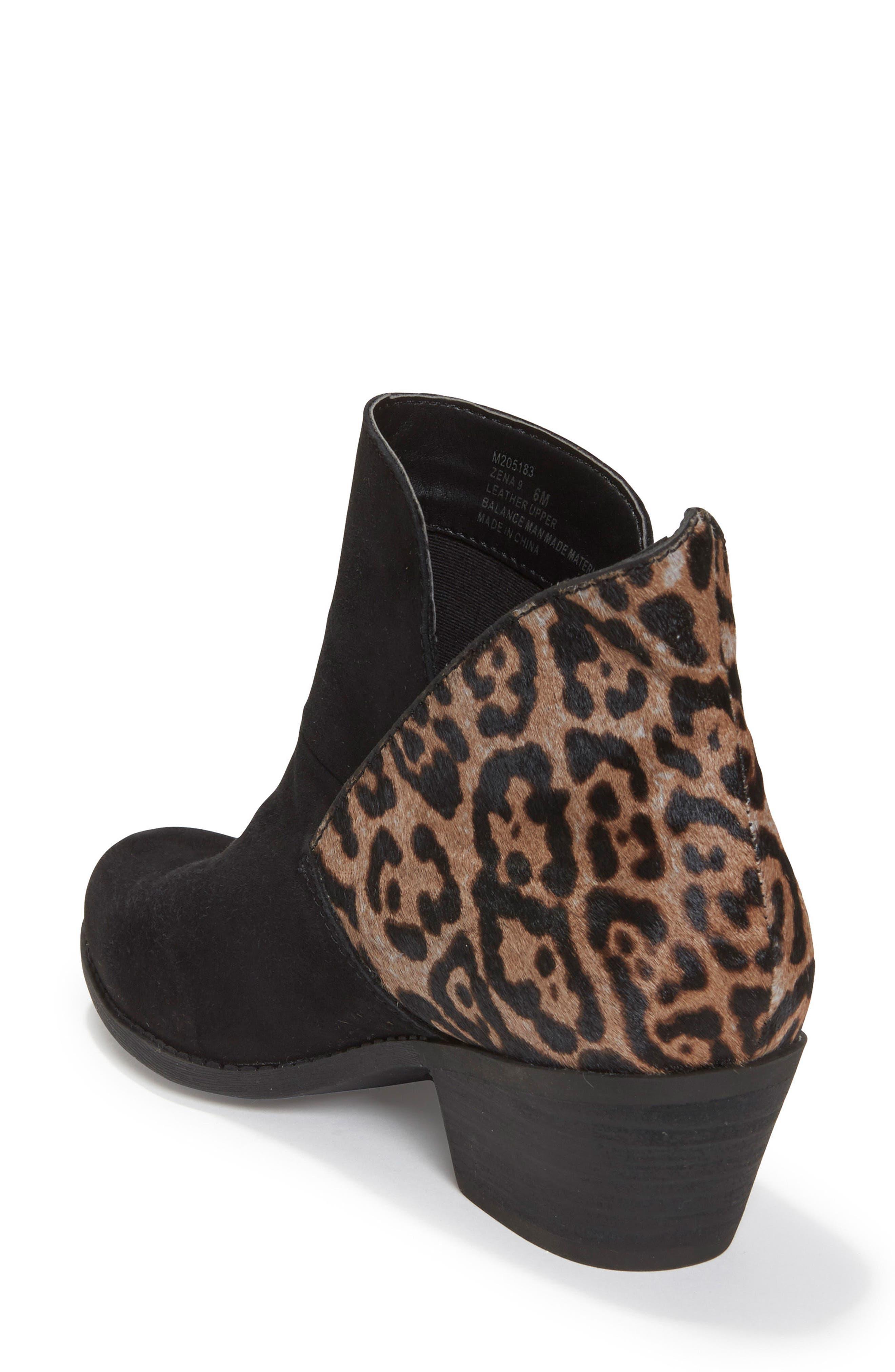 Zena Ankle Boot,                             Alternate thumbnail 2, color,                             Black/ Ash Jaguar Suede