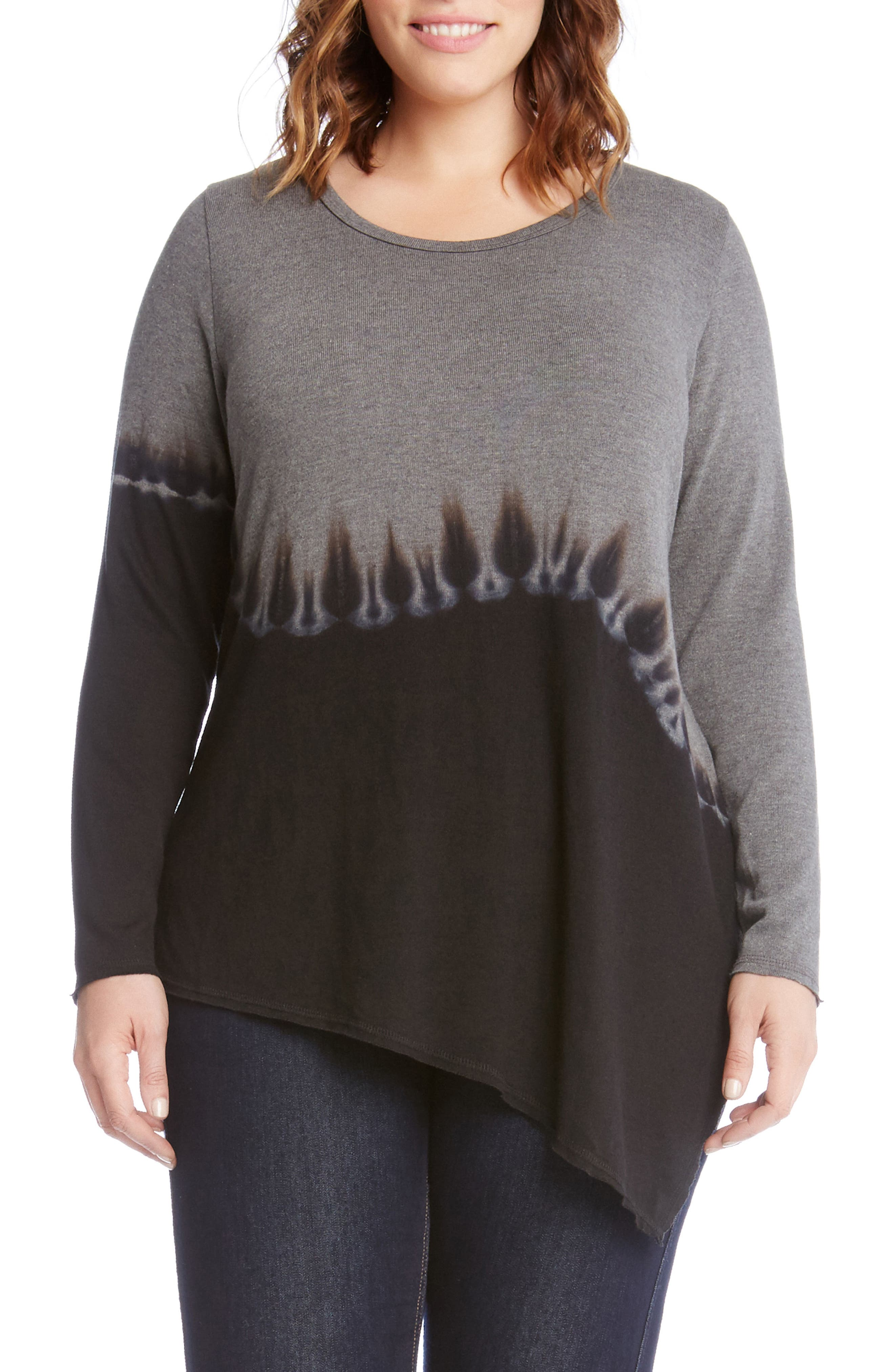Karen Kane Quartz Tie Dye Sweater (Plus Size)
