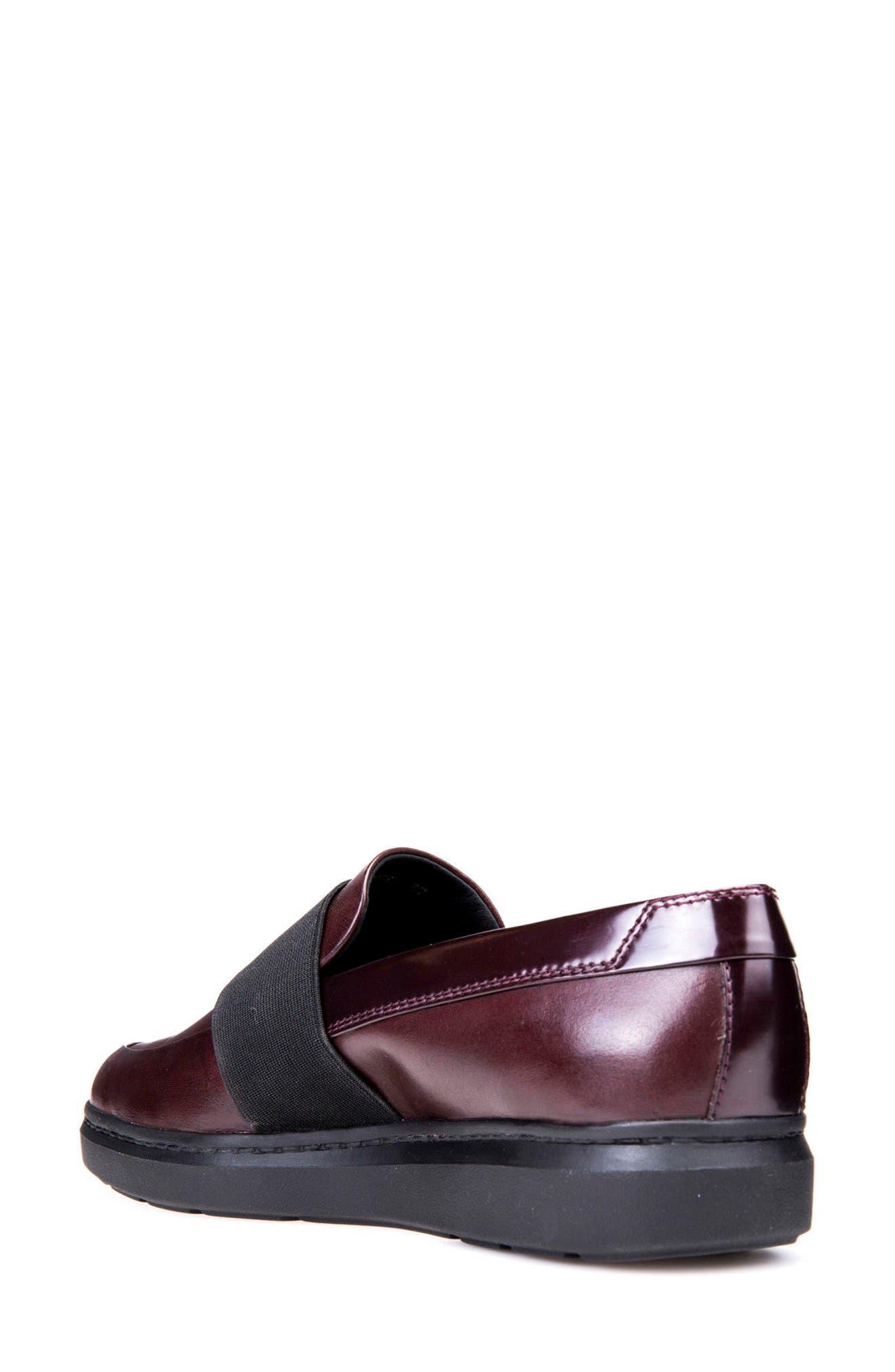 Jerrica Loafer,                             Alternate thumbnail 2, color,                             Dark Burgundy Leather