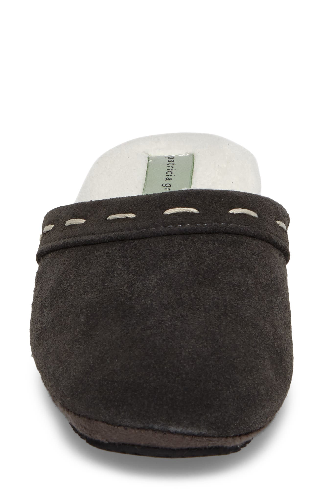 Mayfair Wedge Slipper,                             Alternate thumbnail 5, color,                             Charcoal Suede