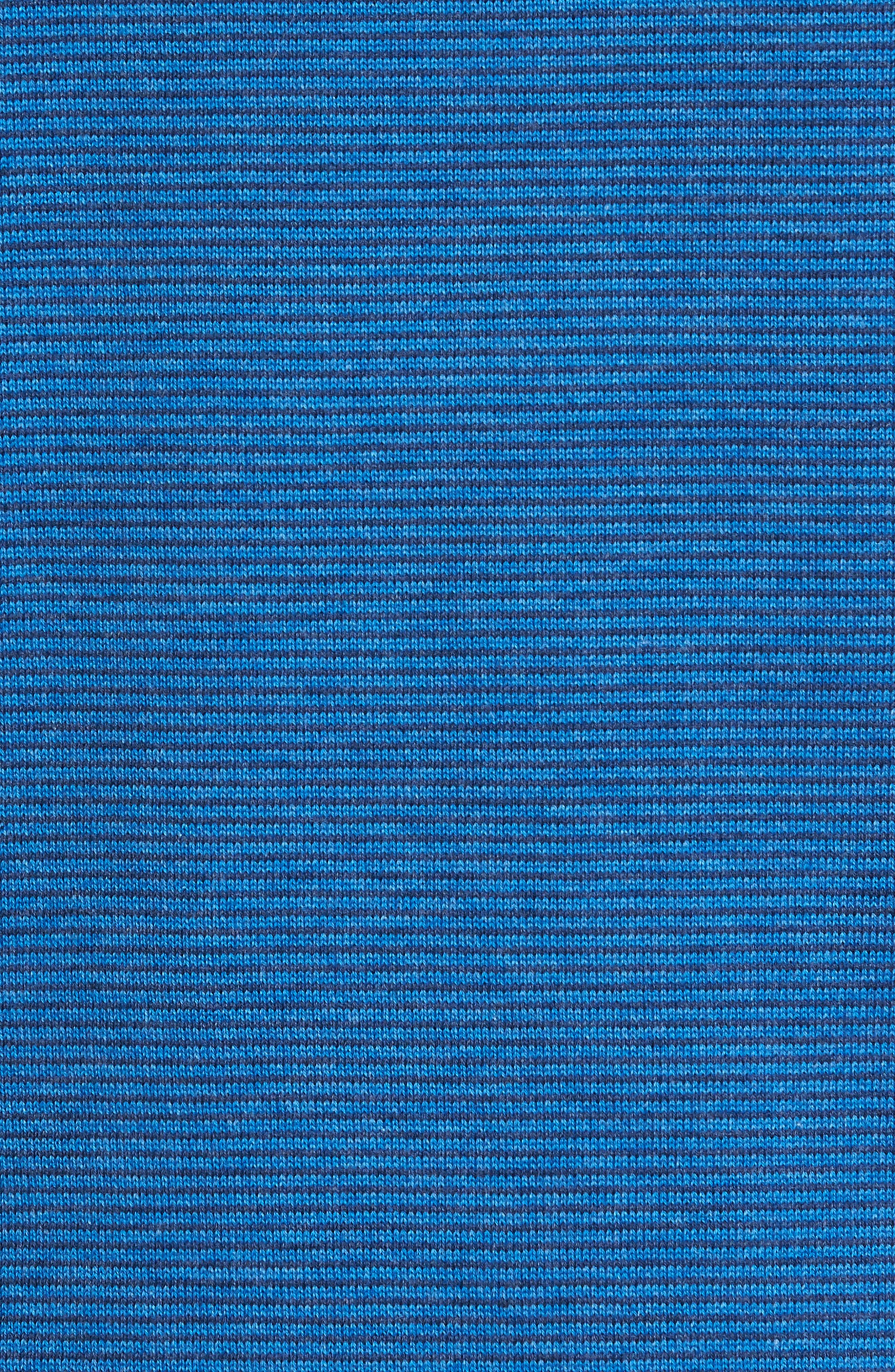 Fine Stripe Quarter Zip Sweater,                             Alternate thumbnail 5, color,                             Regatta Blue