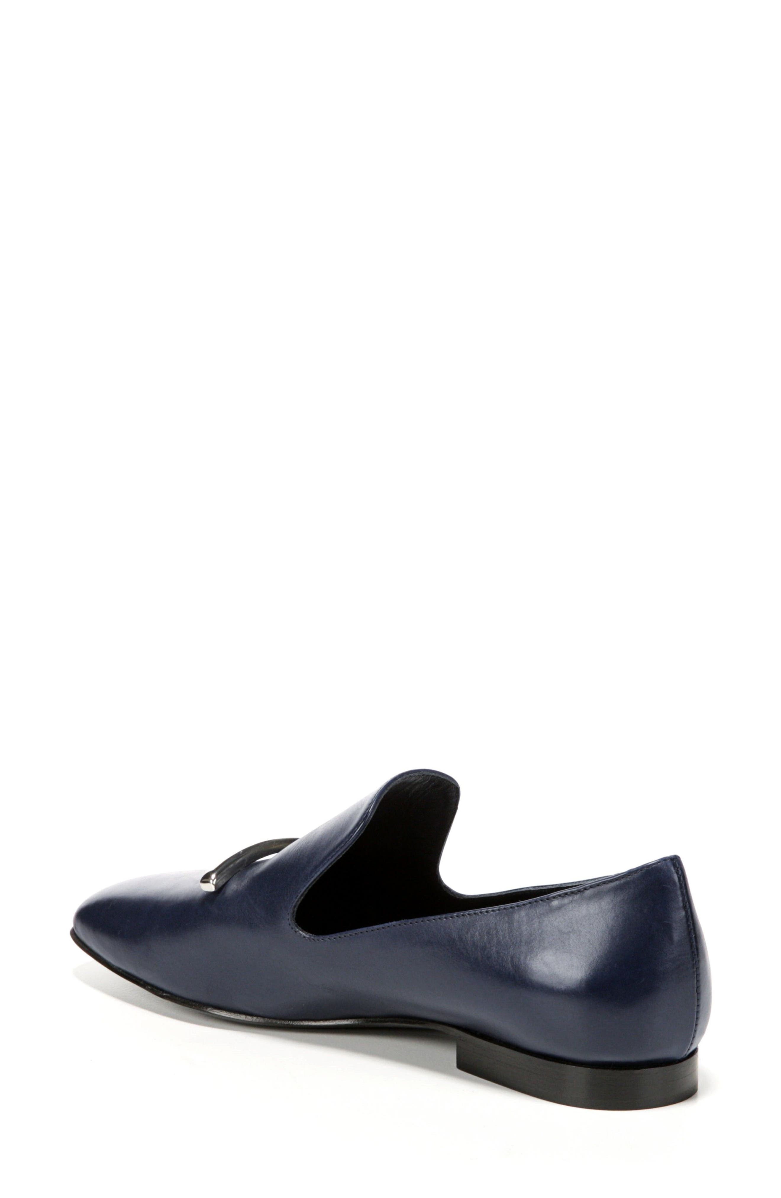 Tallis Flat Loafer,                             Alternate thumbnail 2, color,                             Midnight Leather