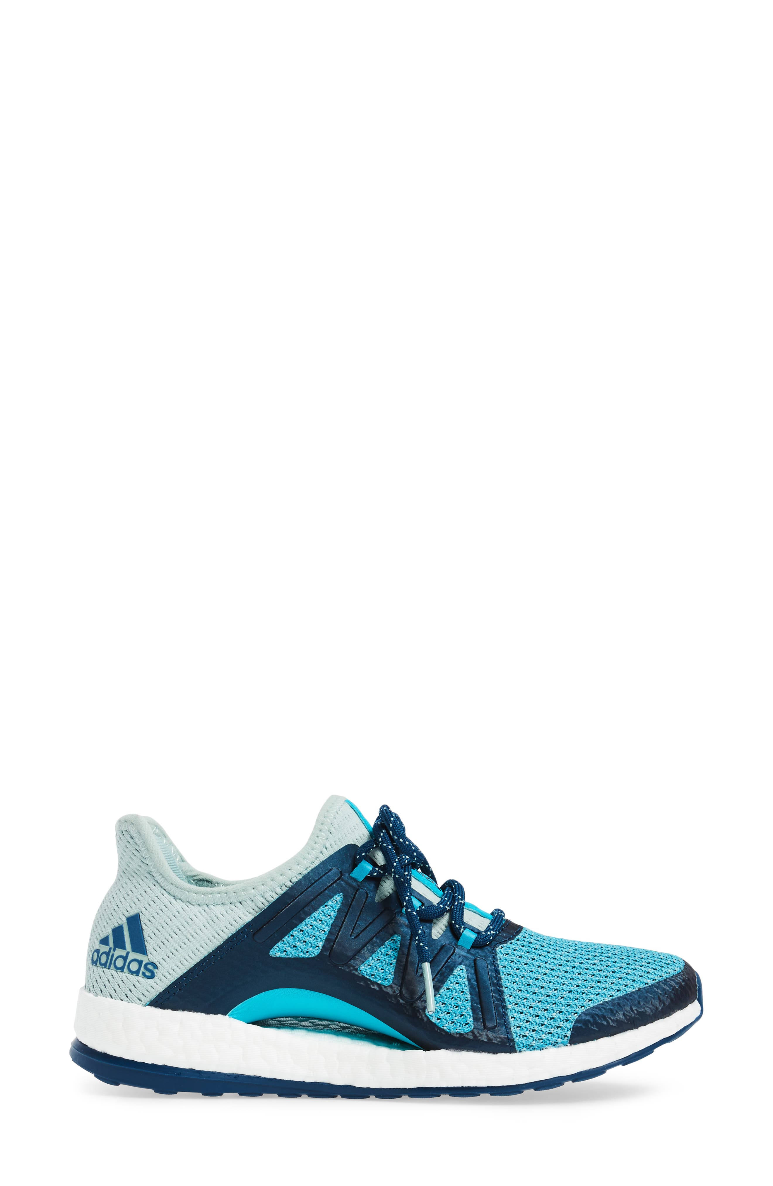 PureBOOST Xpose Running Shoe,                             Alternate thumbnail 5, color,                             Tactile Green/ Energy Blue