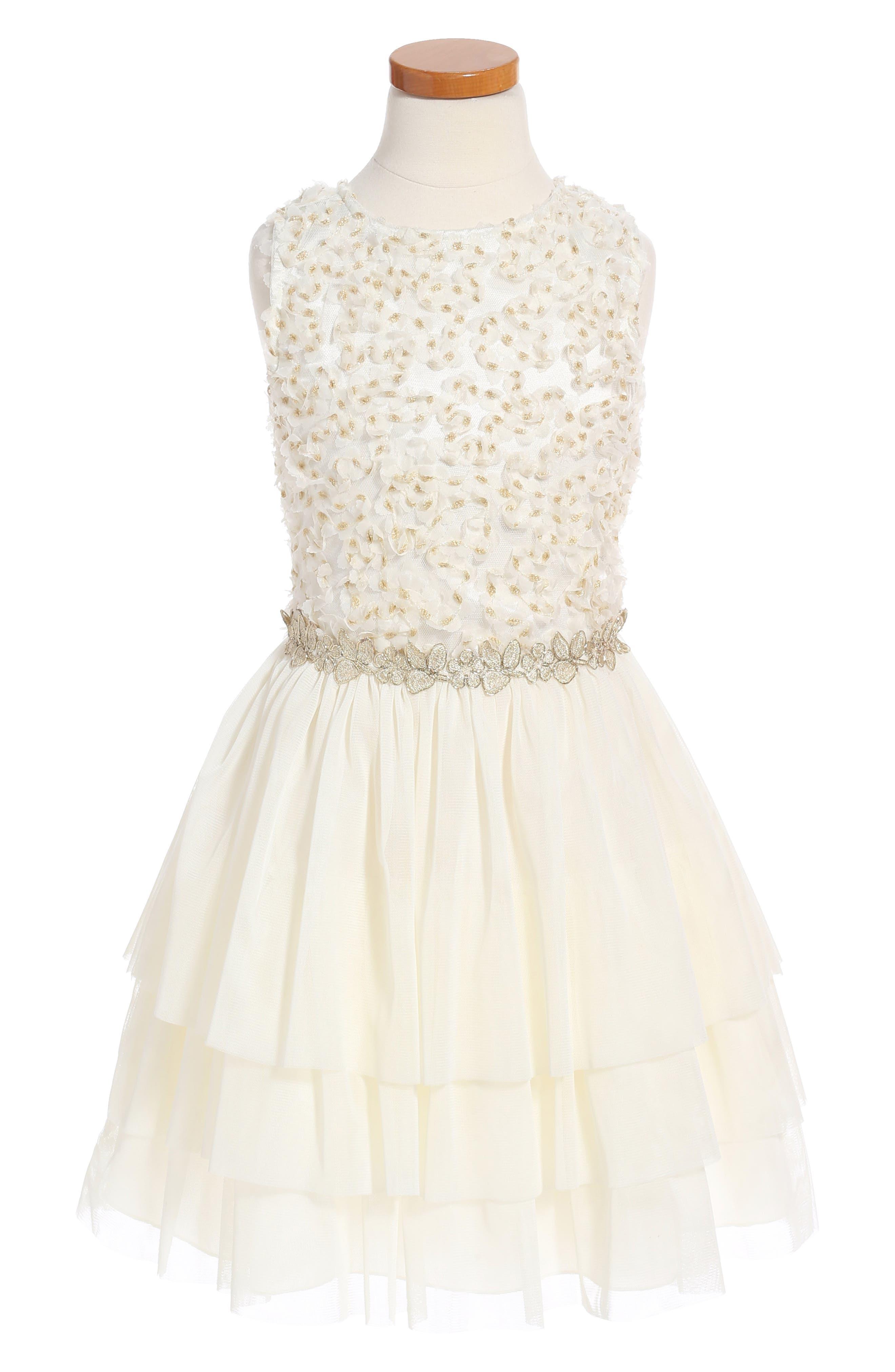 Nanette Lepore Appliquéd Mesh Dress (Big Girls)