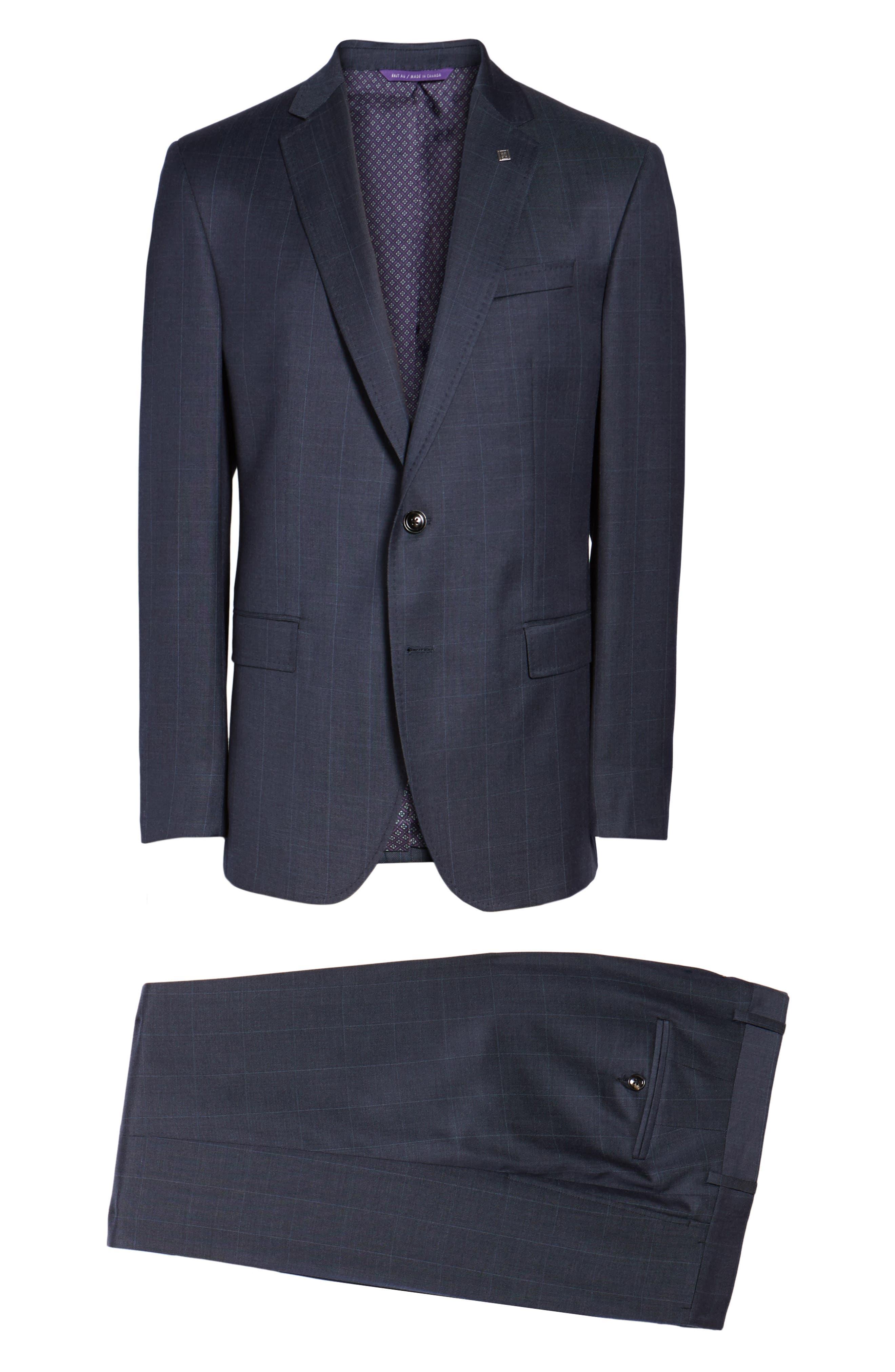 Alternate Image 8  - Ted Baker London Jay Trim Fit Windowpane Wool Suit