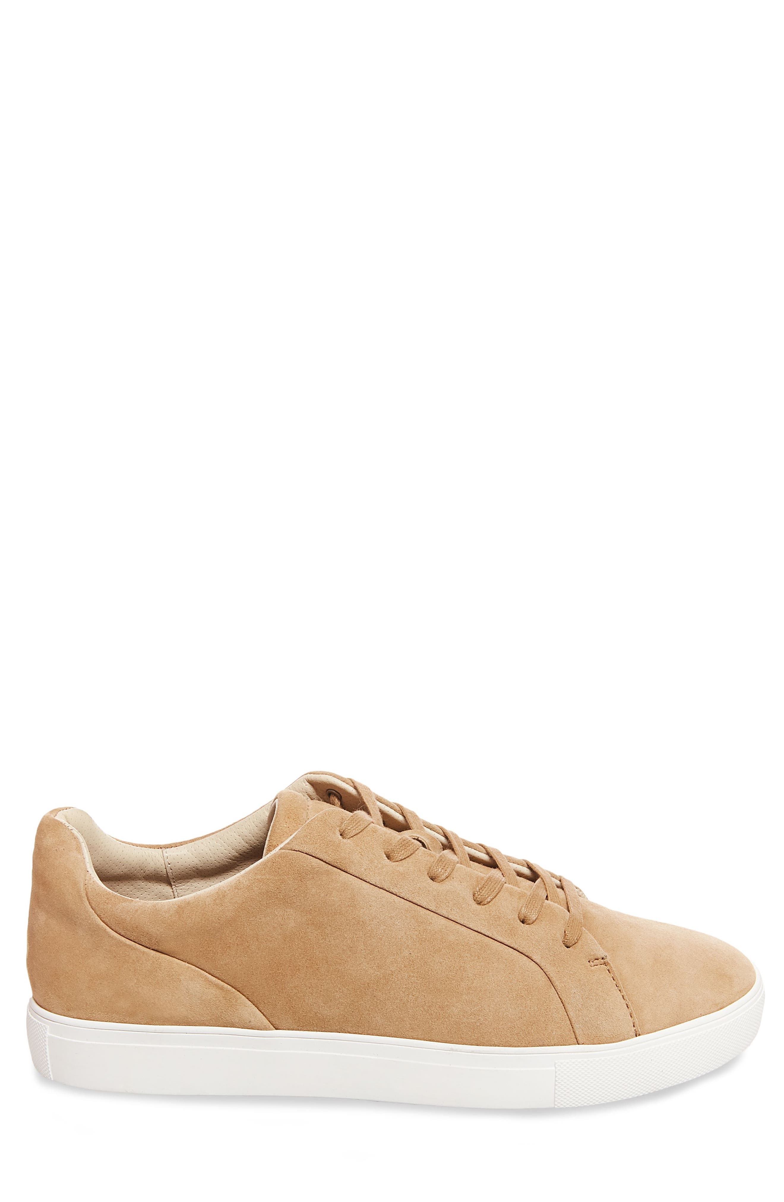 x GQ James Sneaker,                             Alternate thumbnail 3, color,                             Tan Suede