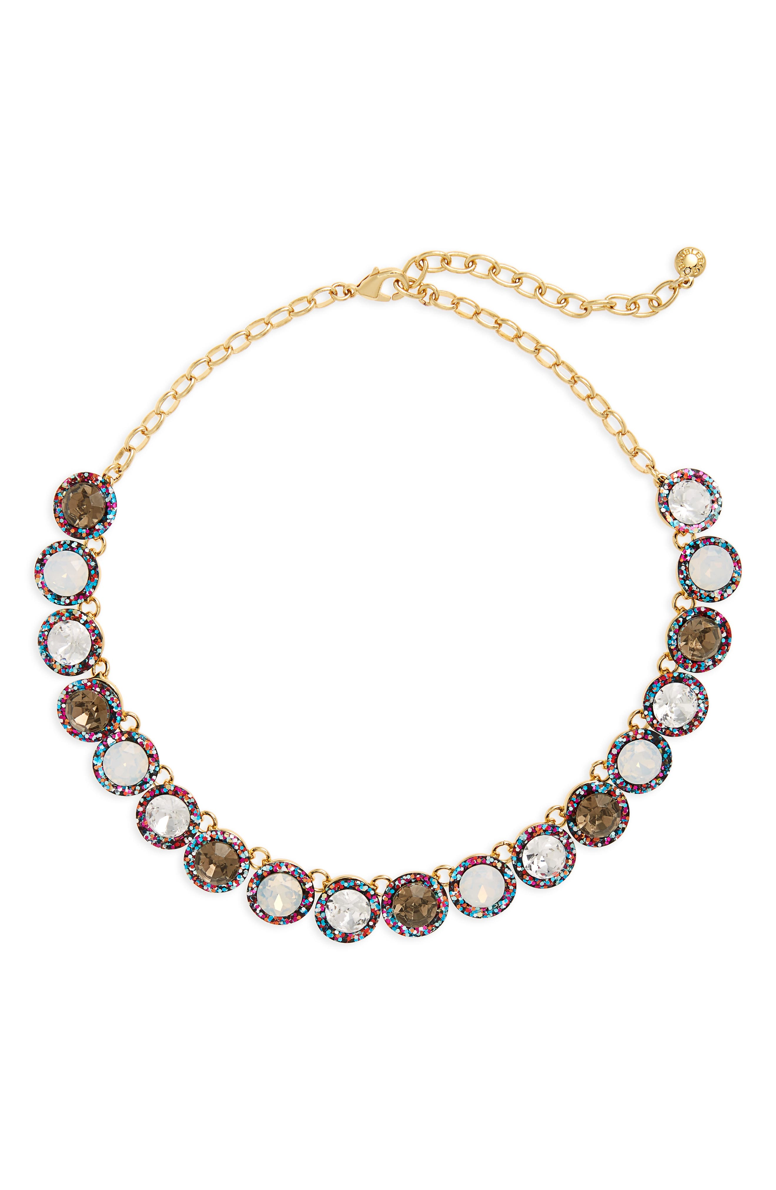 Jewel Collar Necklace,                         Main,                         color, Black