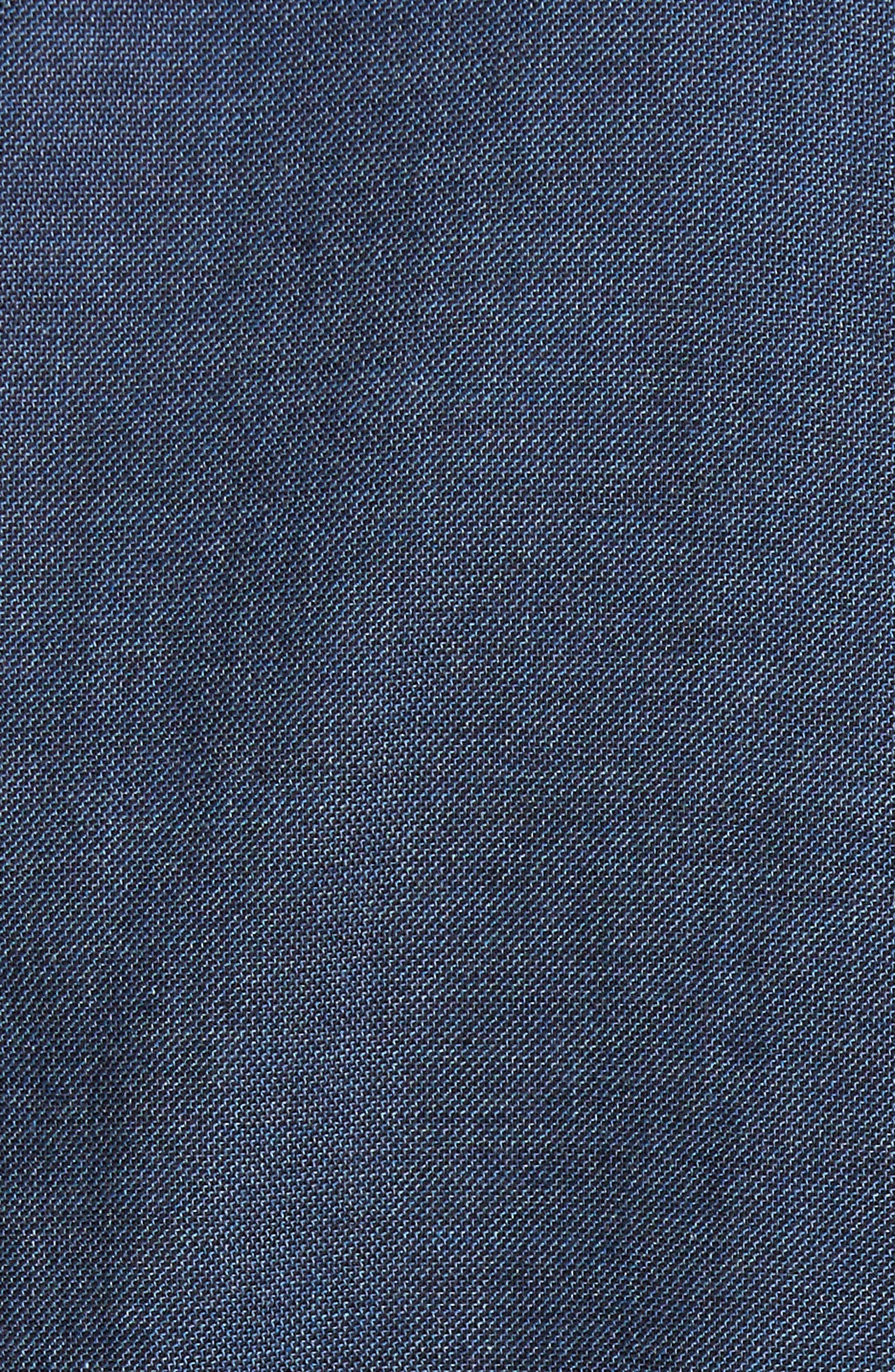 Standard Fit Irvine Sport Shirt,                             Alternate thumbnail 5, color,                             Navy