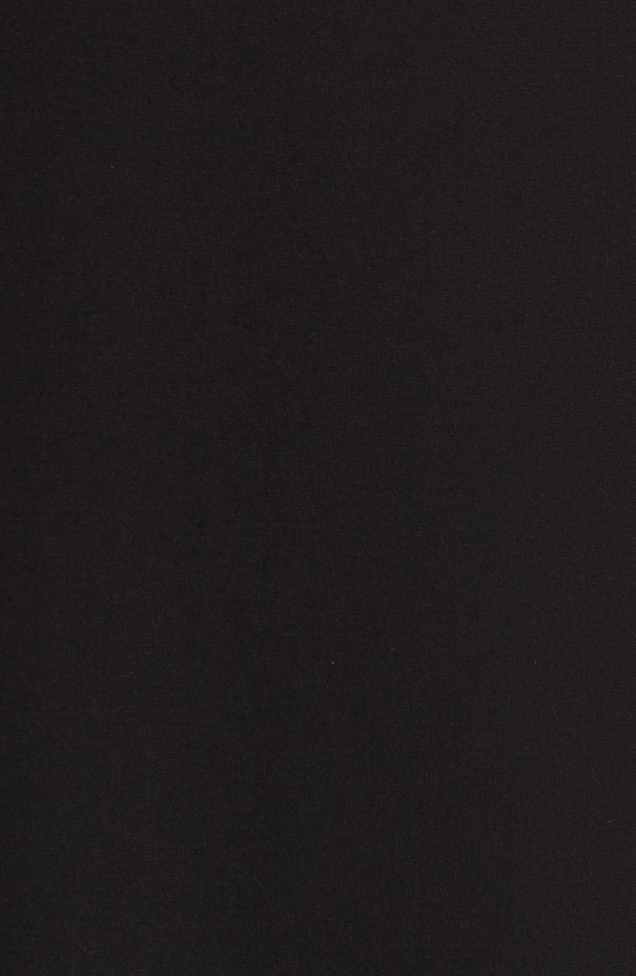 Lace Sleeve Trapeze Dress,                             Alternate thumbnail 5, color,                             Black