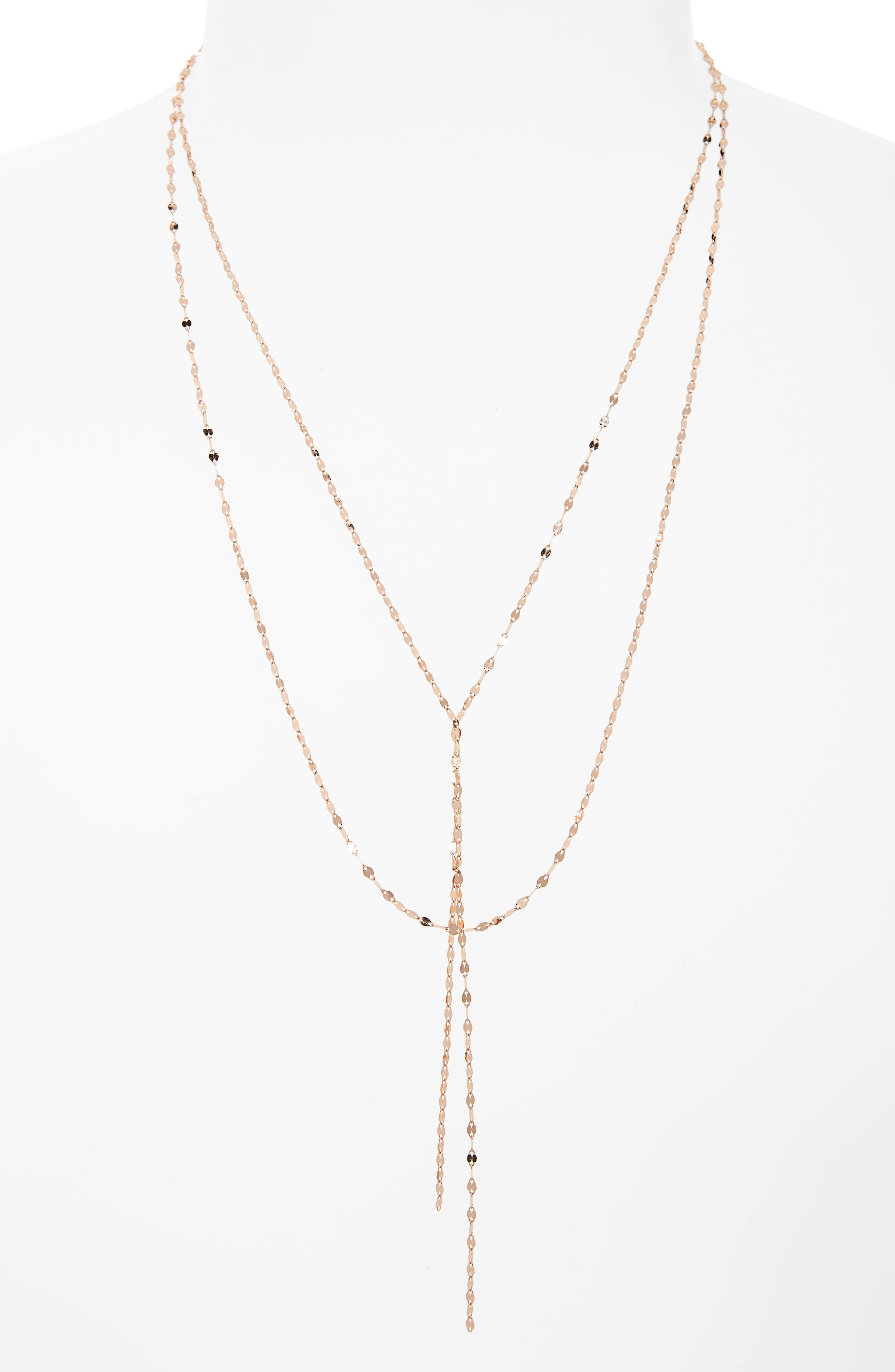 this edge rosettes drop pendant with chain pin single lariat rosette piece mini a gold little look diamond necklaces delicate add shape gorgeous bar choker and necklace to layer stella our pear