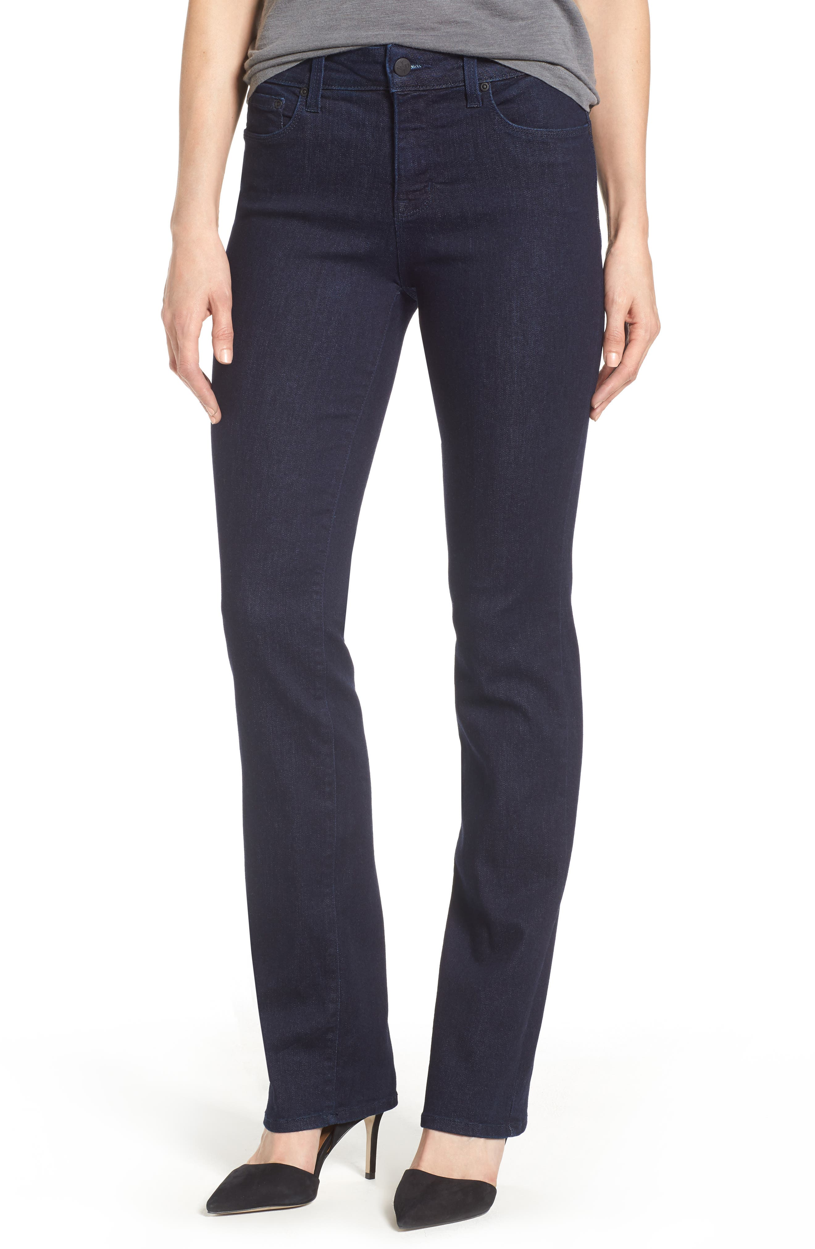 Alternate Image 1 Selected - NYDJ Marilyn Stretch Straight Leg Jeans (Rinse) (Regular & Petite)