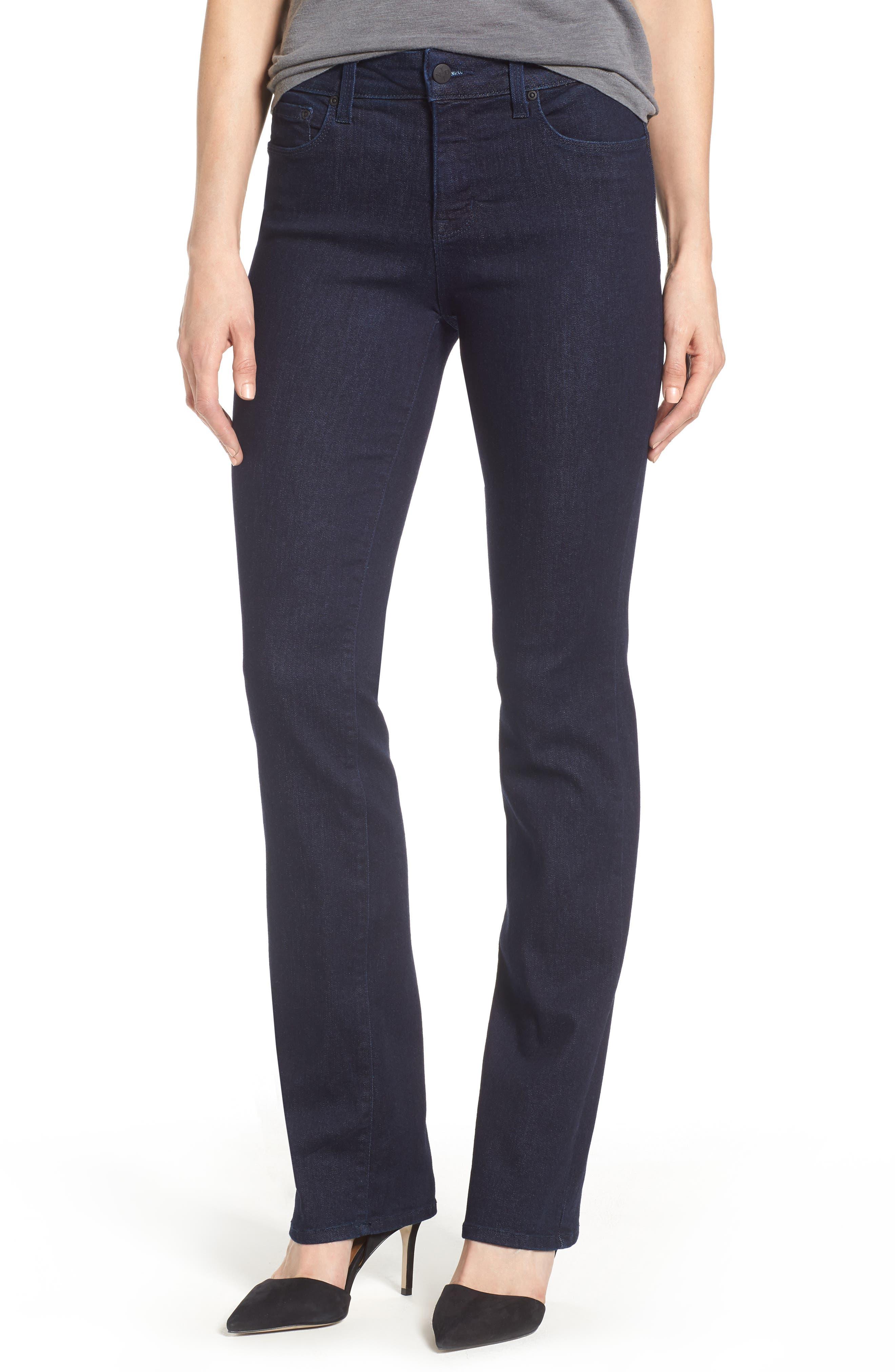 Main Image - NYDJ Marilyn Stretch Straight Leg Jeans (Rinse) (Regular & Petite)