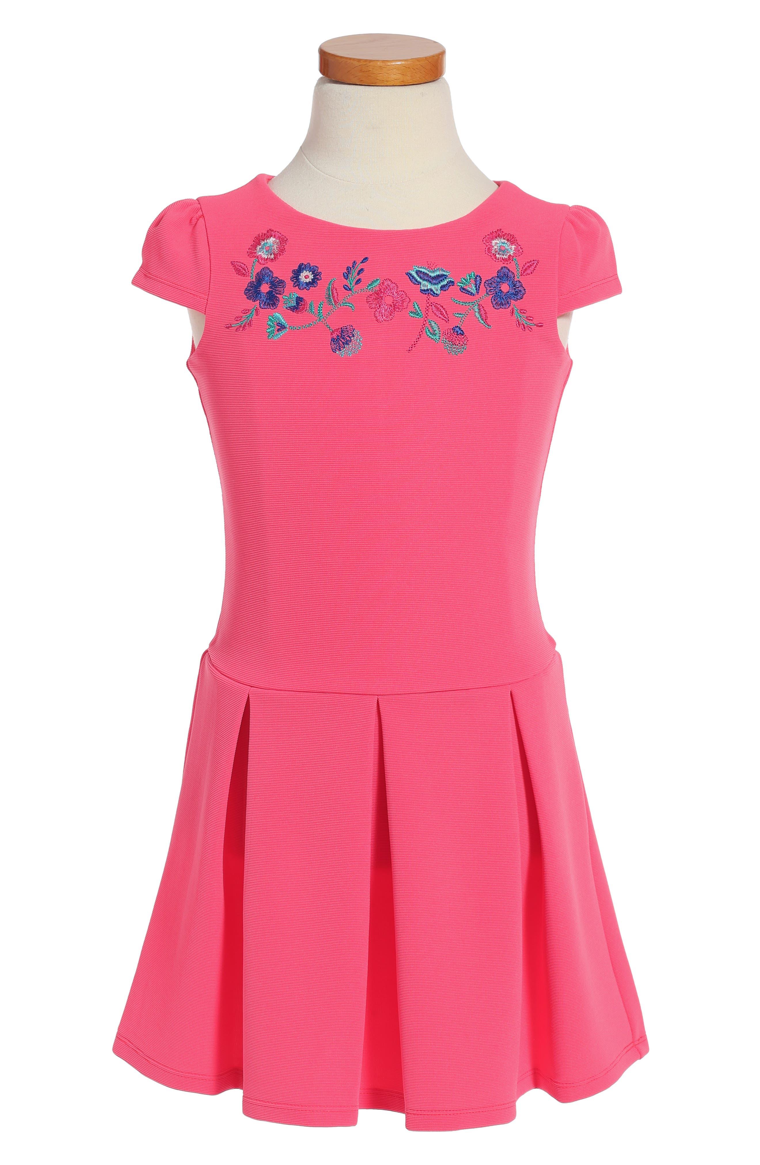 Drop Waist Dress,                         Main,                         color, Sherbet