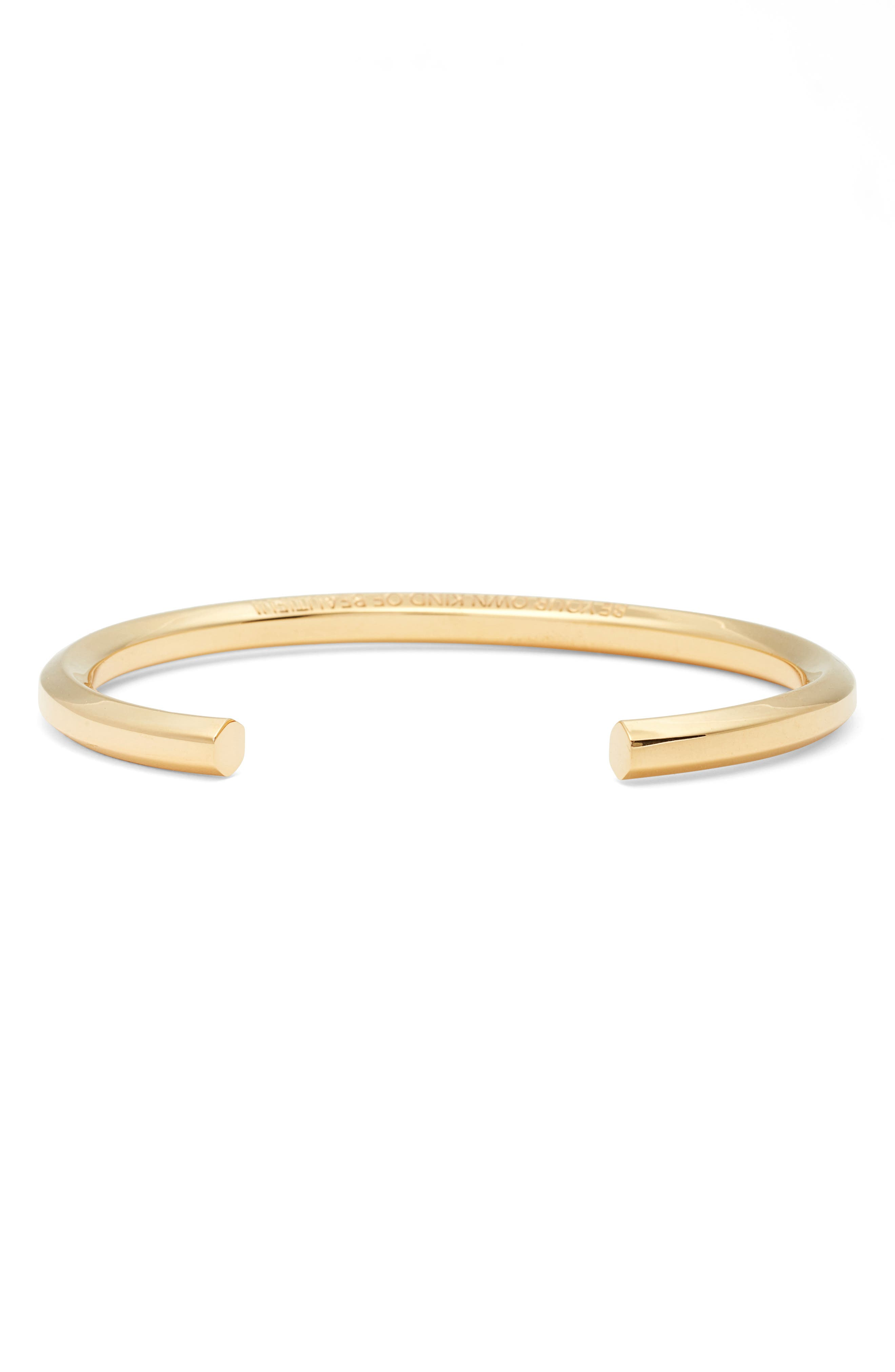 Be Your Own Kind of Beautiful Cuff,                             Alternate thumbnail 3, color,                             Gold