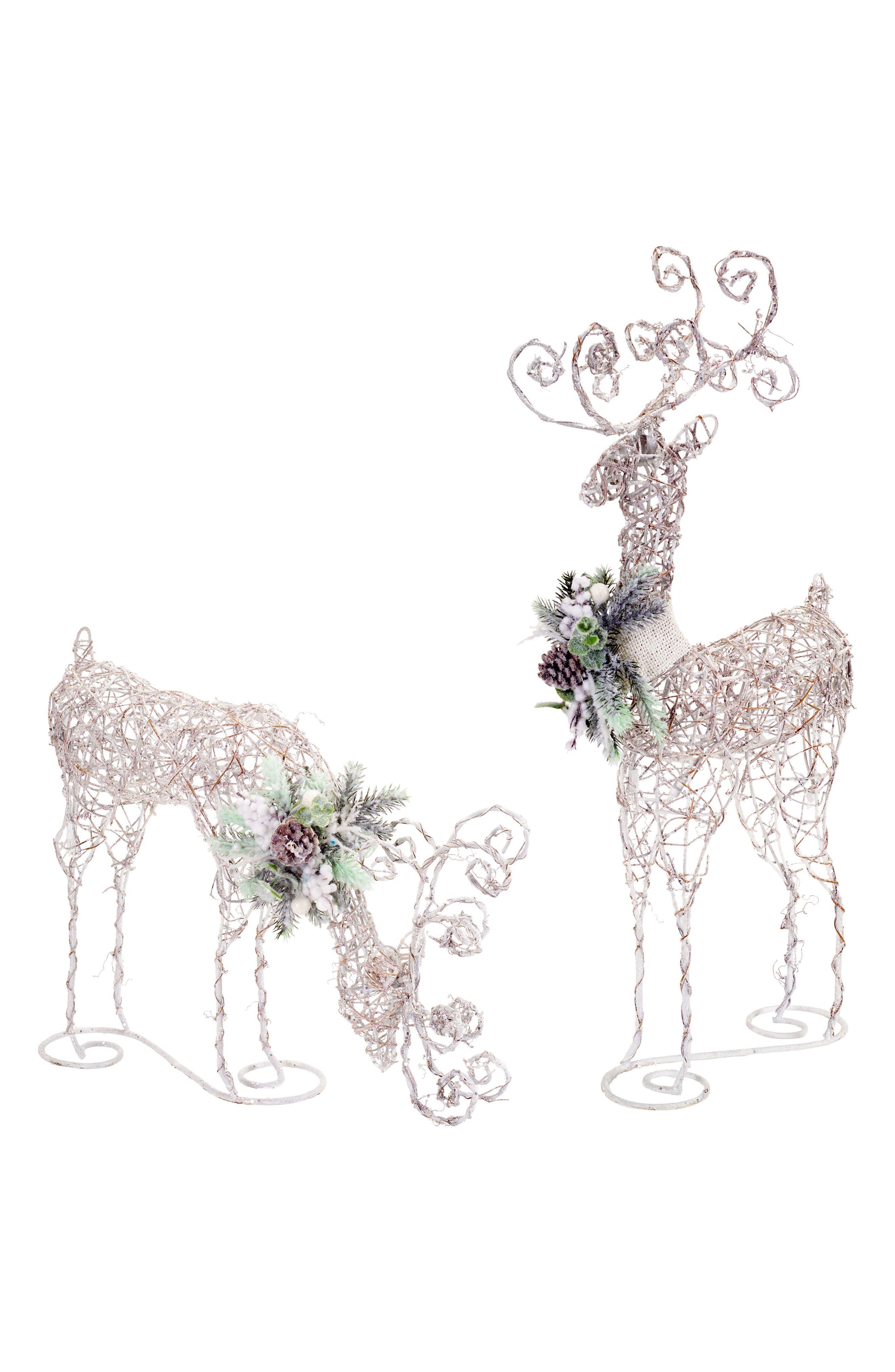 Melrose Gifts Set of 2 LED Deer Decorations