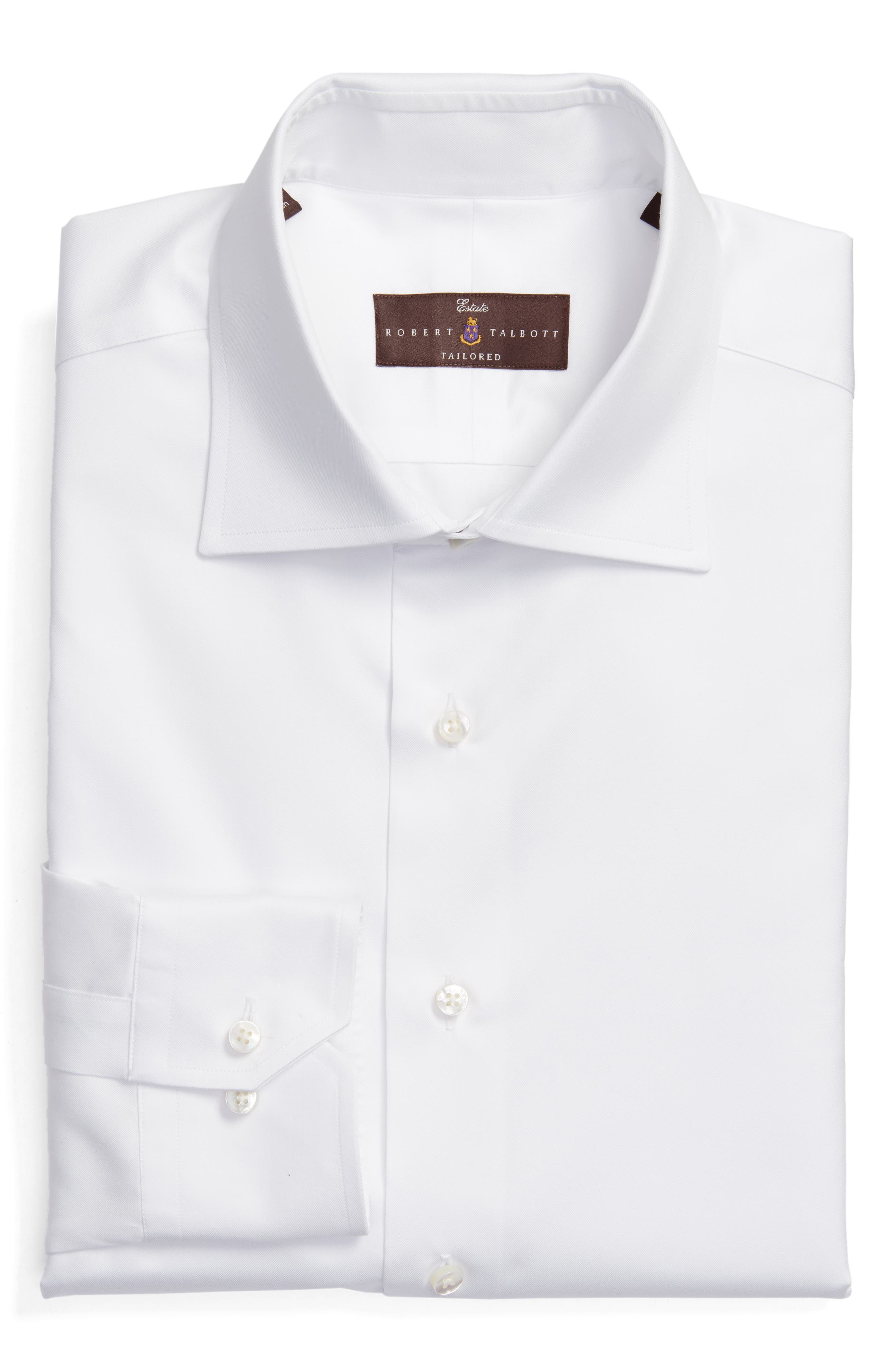 Alternate Image 1 Selected - Robert Talbott Tailored Fit Solid Dress Shirt
