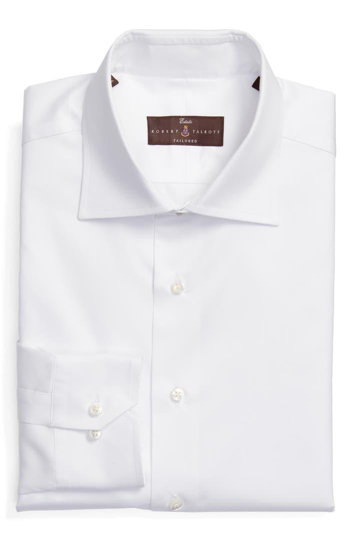 Robert talbott tailored fit solid dress shirt nordstrom for Tailoring a dress shirt