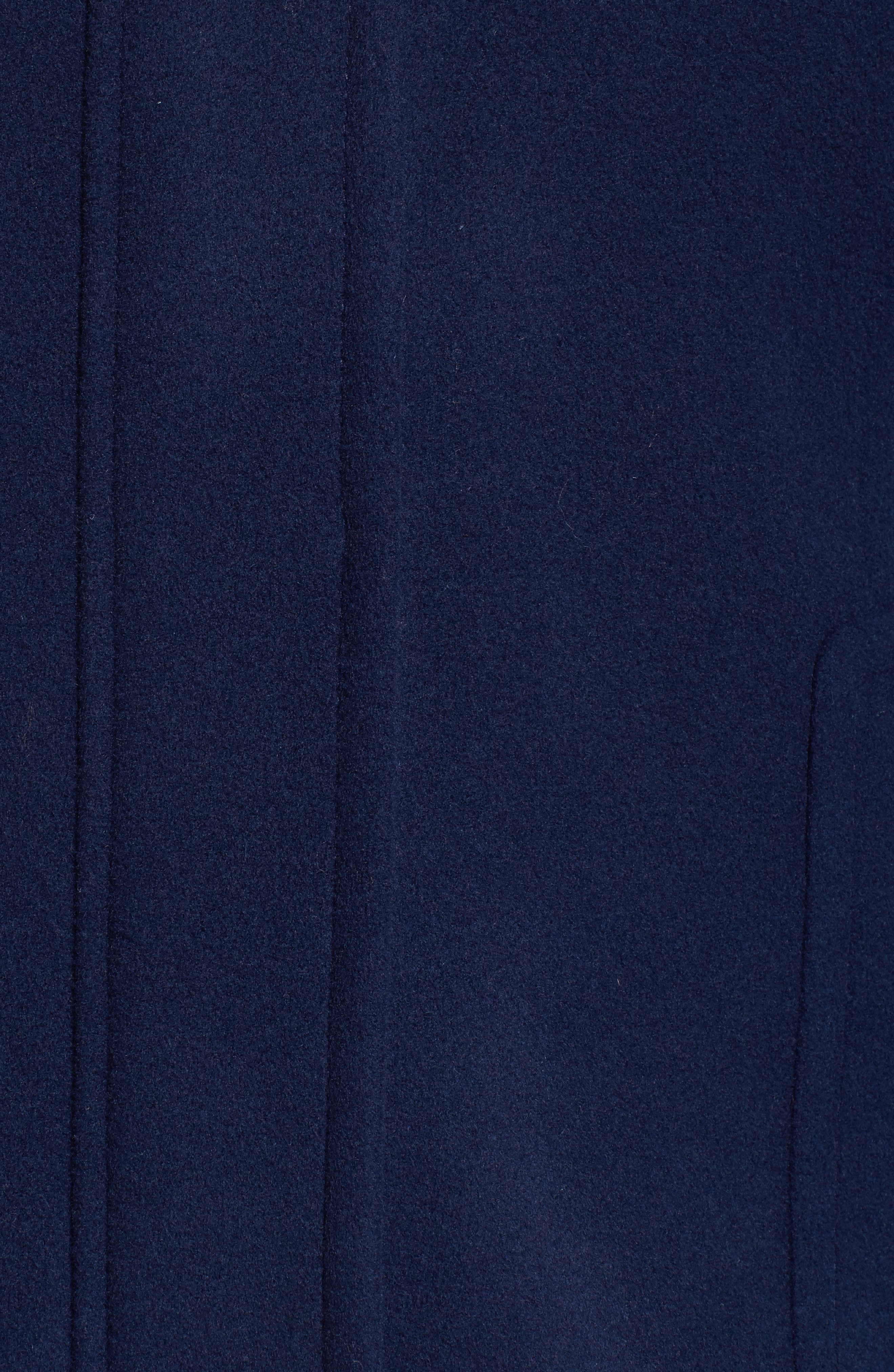Alternate Image 5  - Sachi Hooded Wool Blend Coat with Genuine Fox Fur Trim (Plus Size)