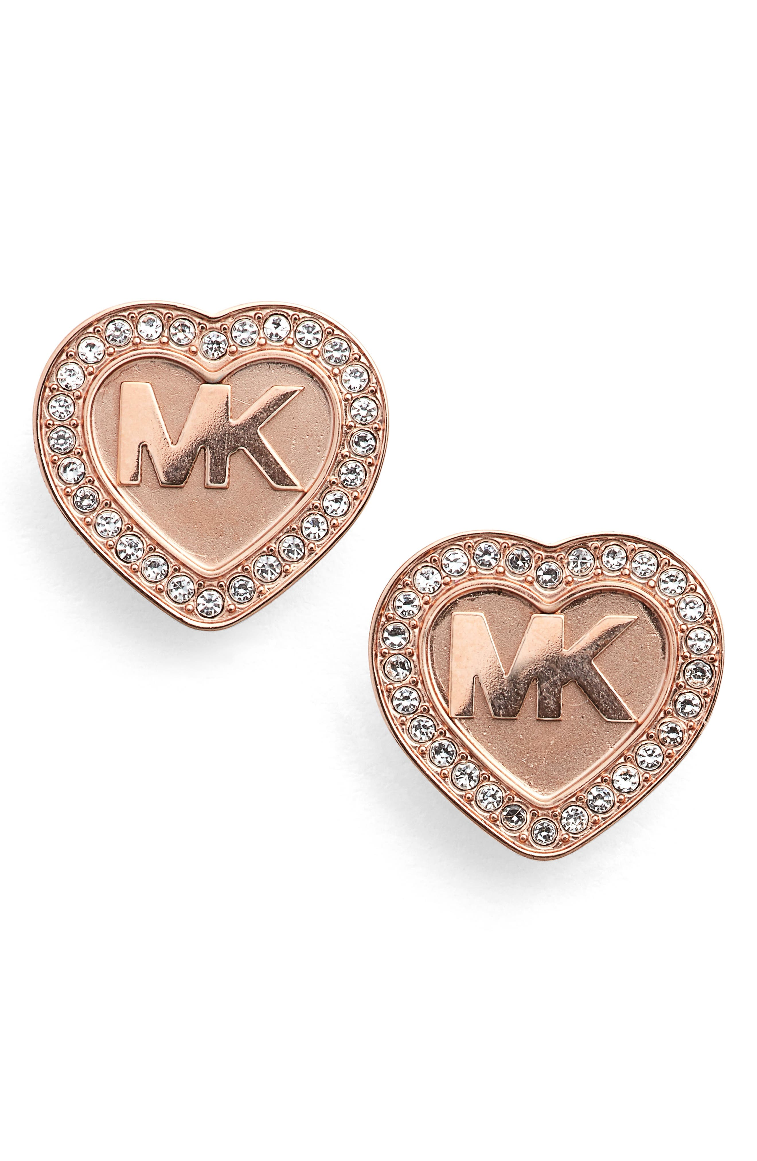 Michael Kors Heart Stud Earrings