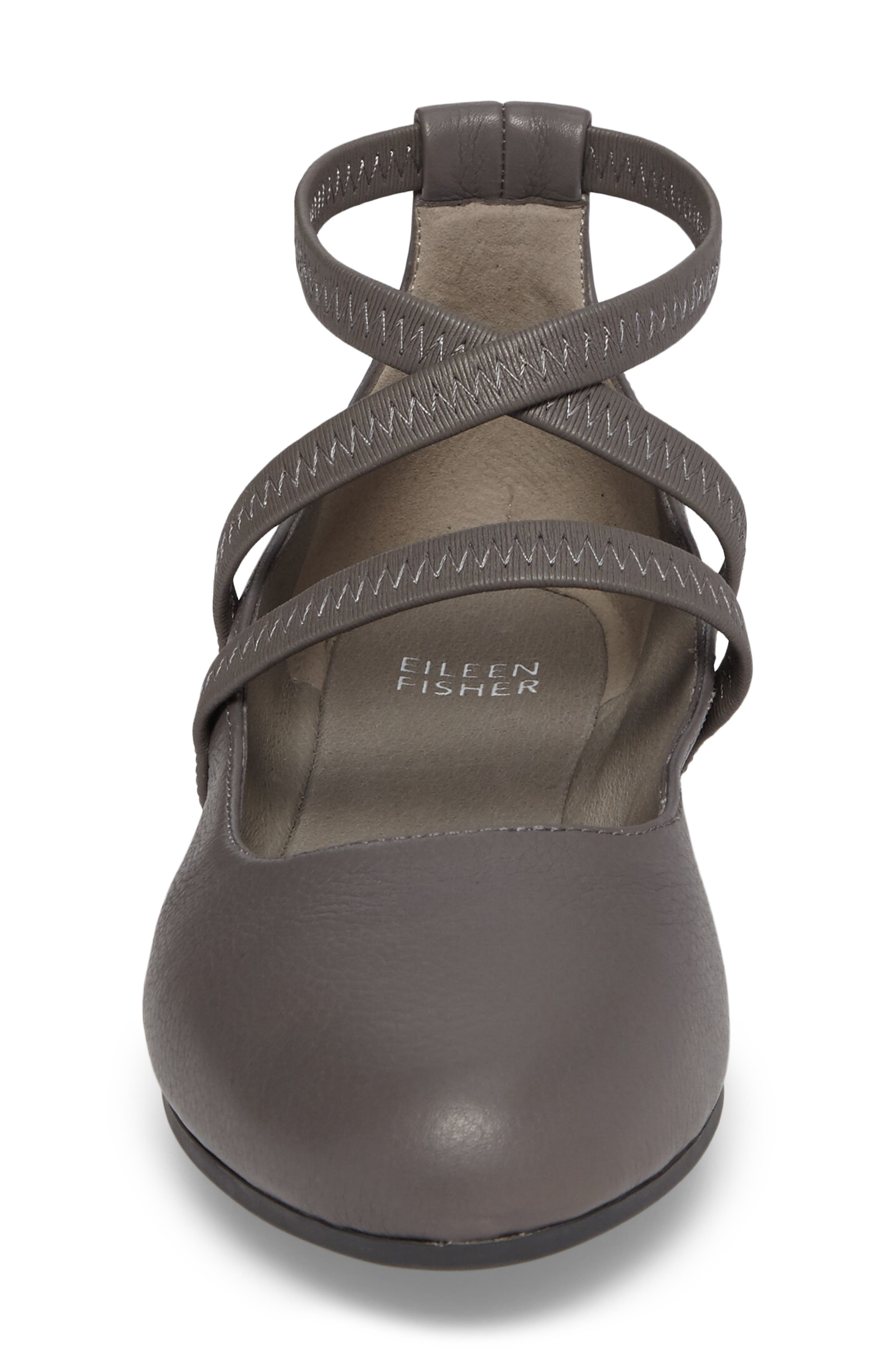 Joe Strappy Ballet Flat,                             Alternate thumbnail 4, color,                             Storm Leather