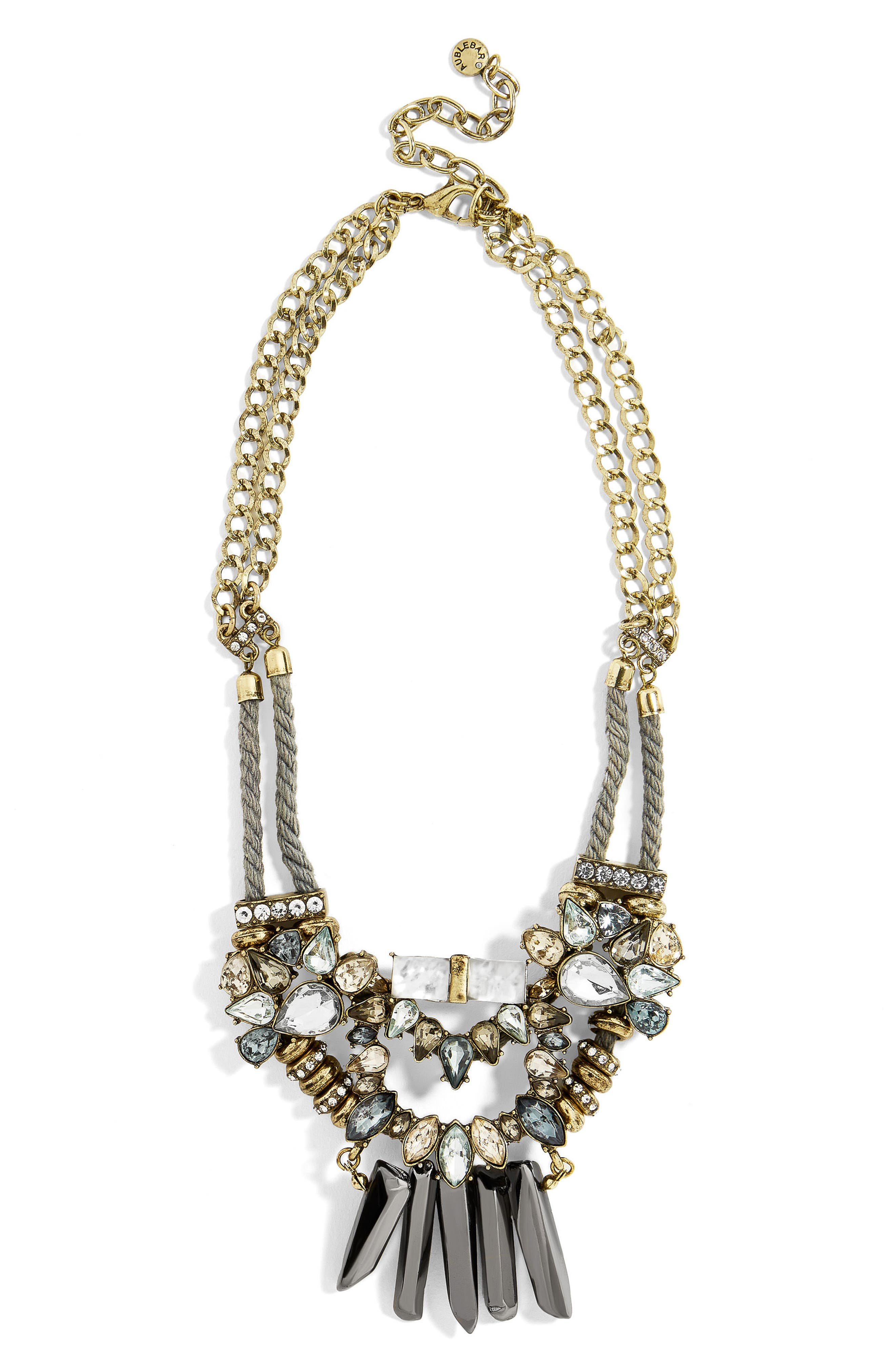 Imelda Bib Necklace,                         Main,                         color, Light Blue
