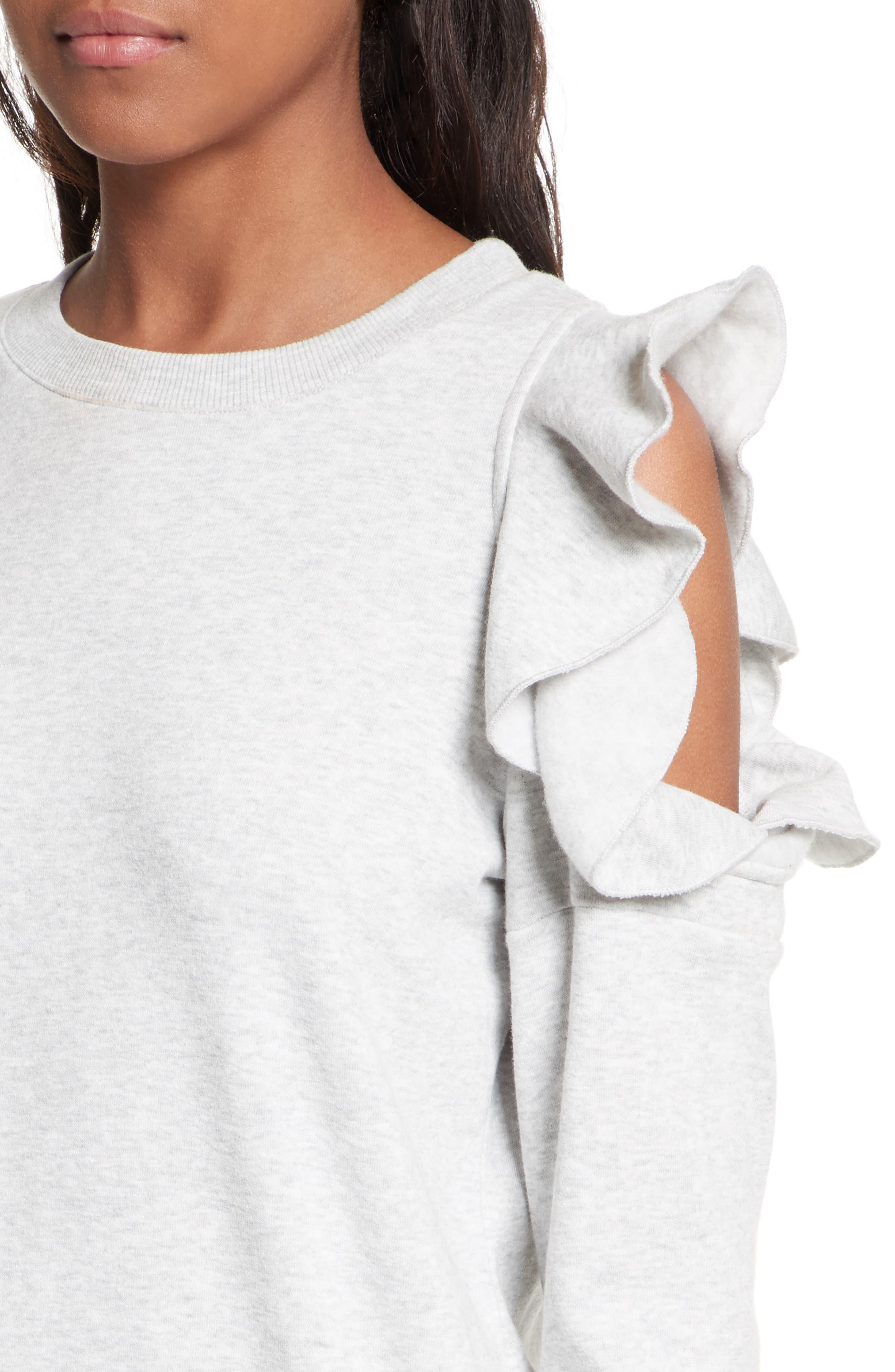Alternate Image 5  - Rebecca Minkoff Gracie Cold Shoulder Sweatshirt