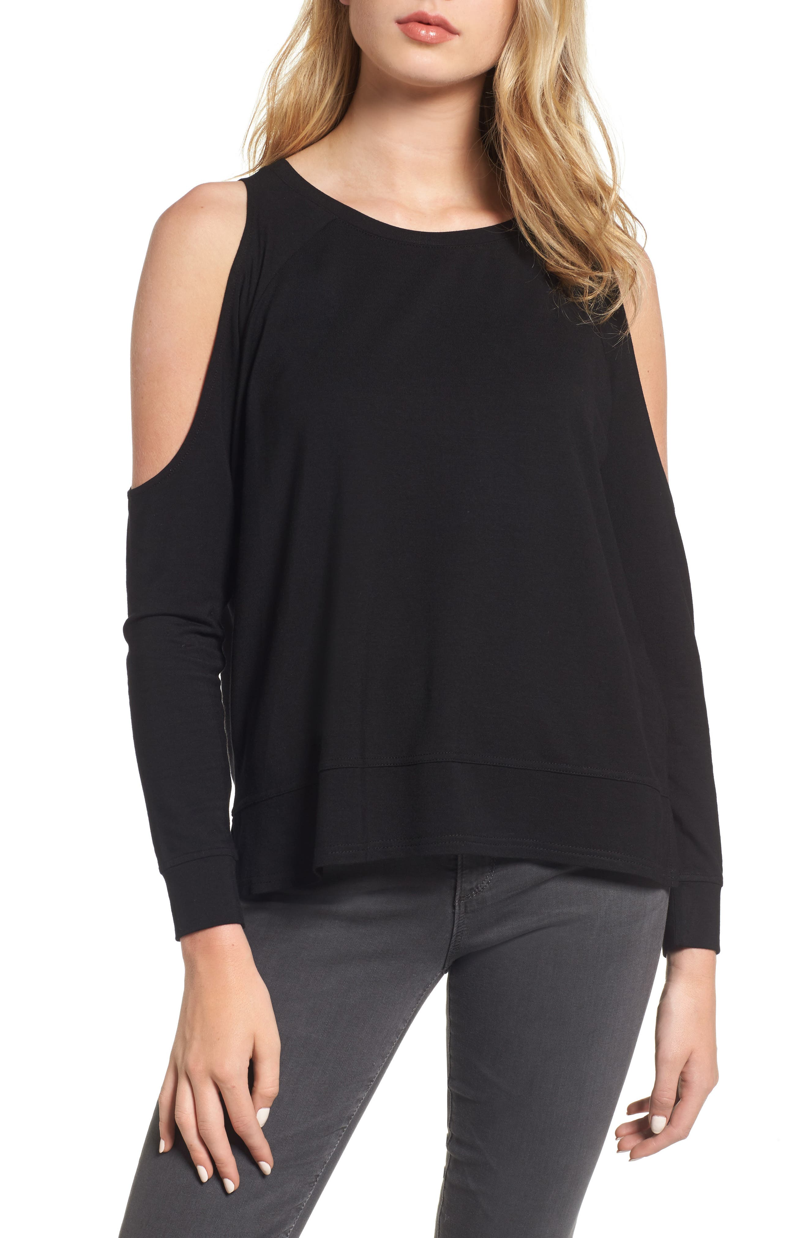 Main Image - cupcakes and cashmere Mariam Cold Shoulder Tee