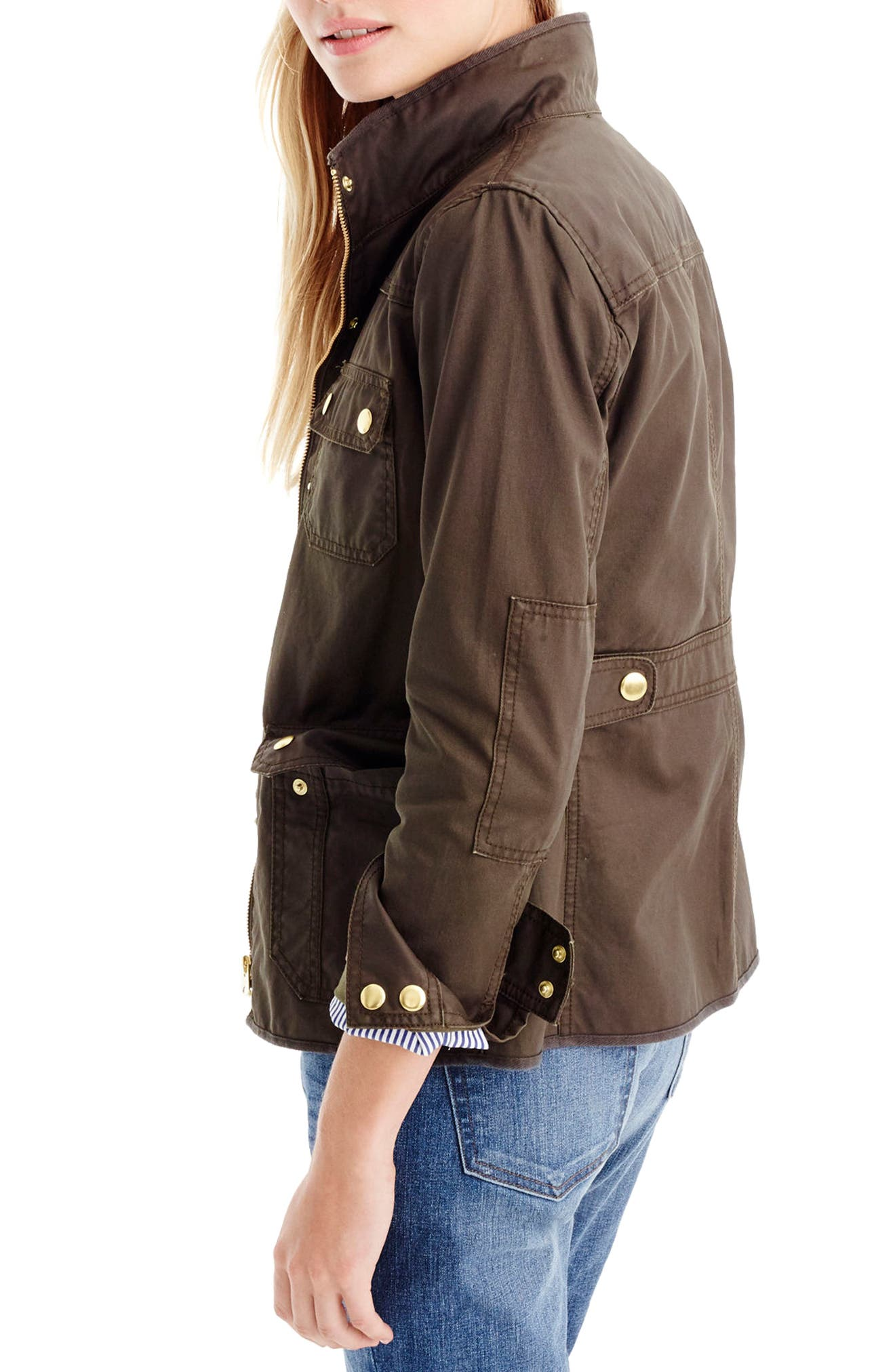 J.Crew Downtown Field Jacket,                             Alternate thumbnail 2, color,                             Mossy Brown