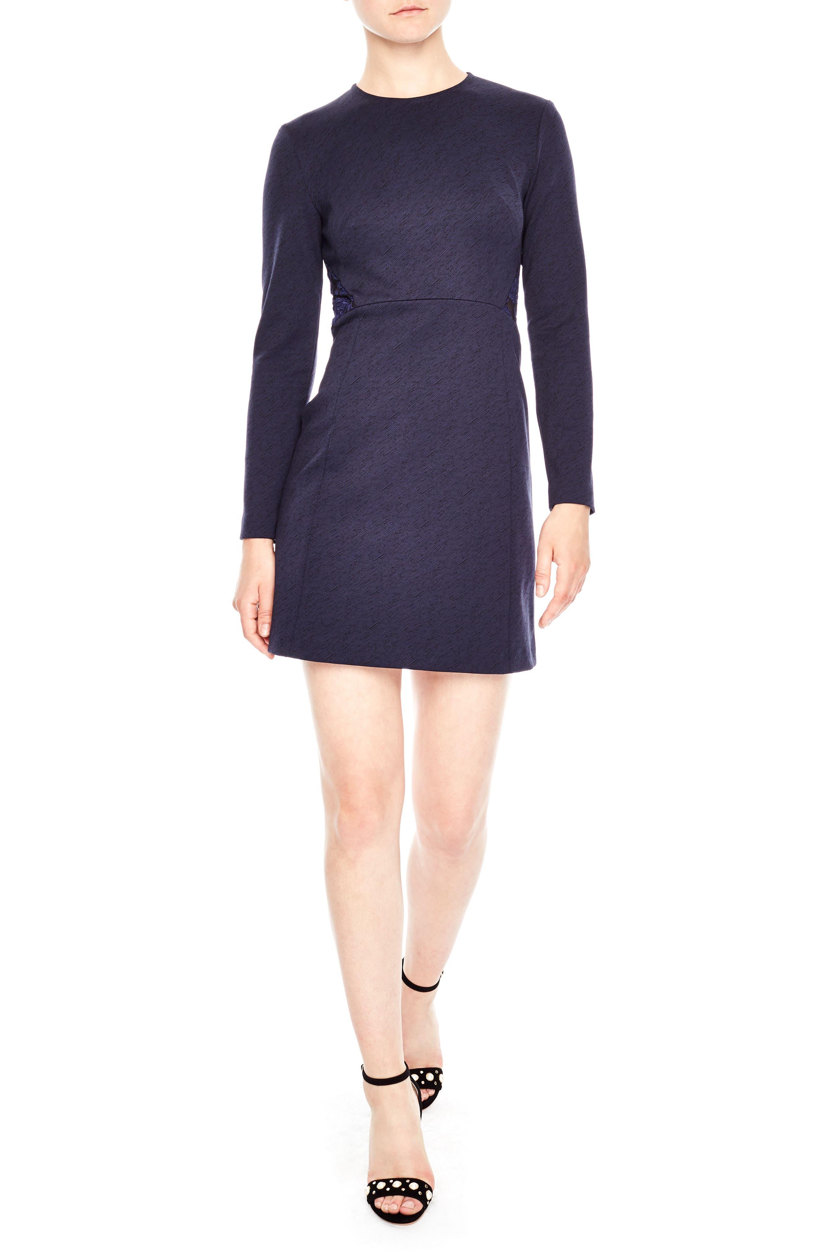 sandro Lace Inset Dress