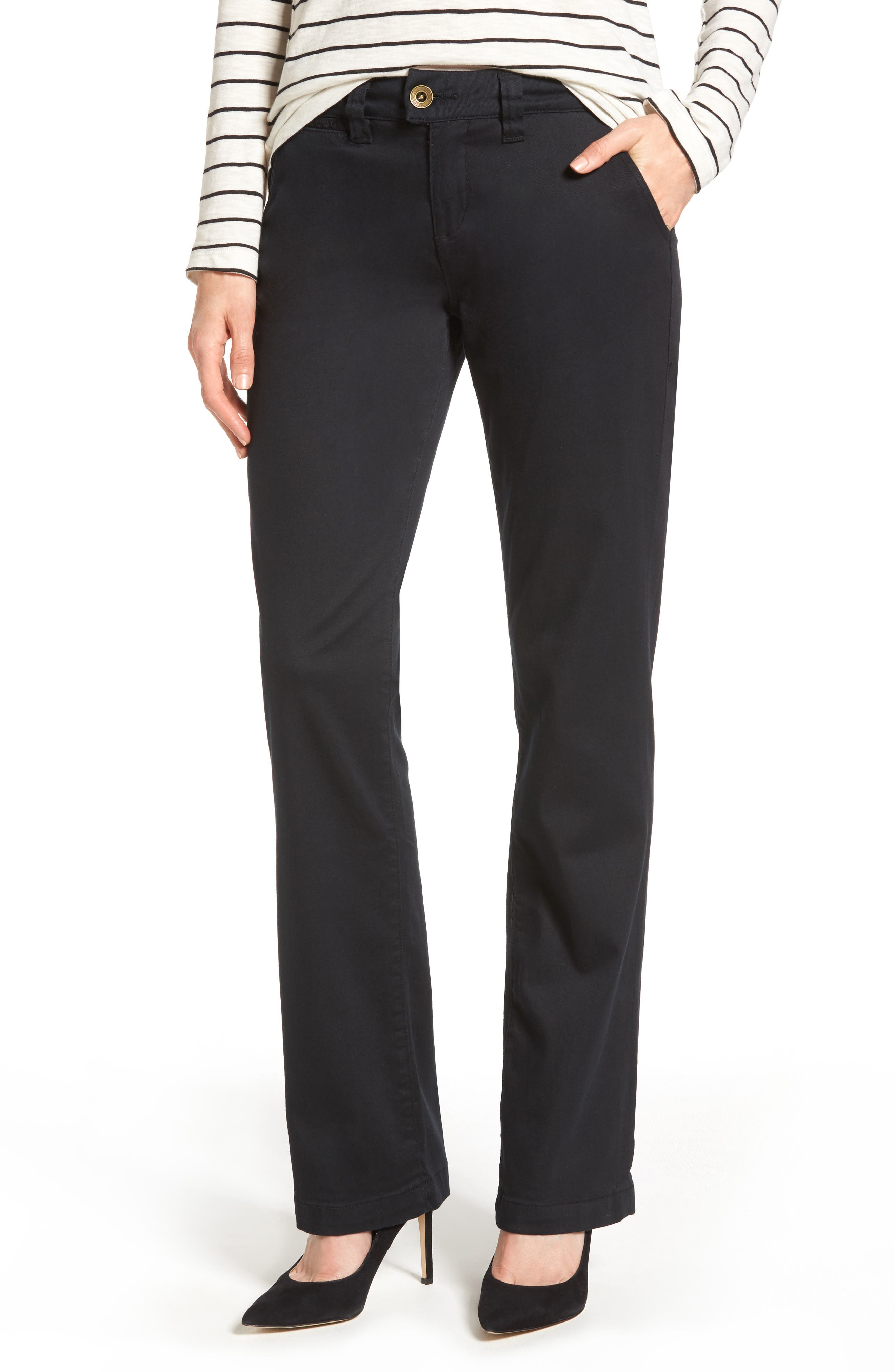 Alternate Image 1 Selected - Jag Jeans Standard Stretch Twill Trousers (Regular & Petite)
