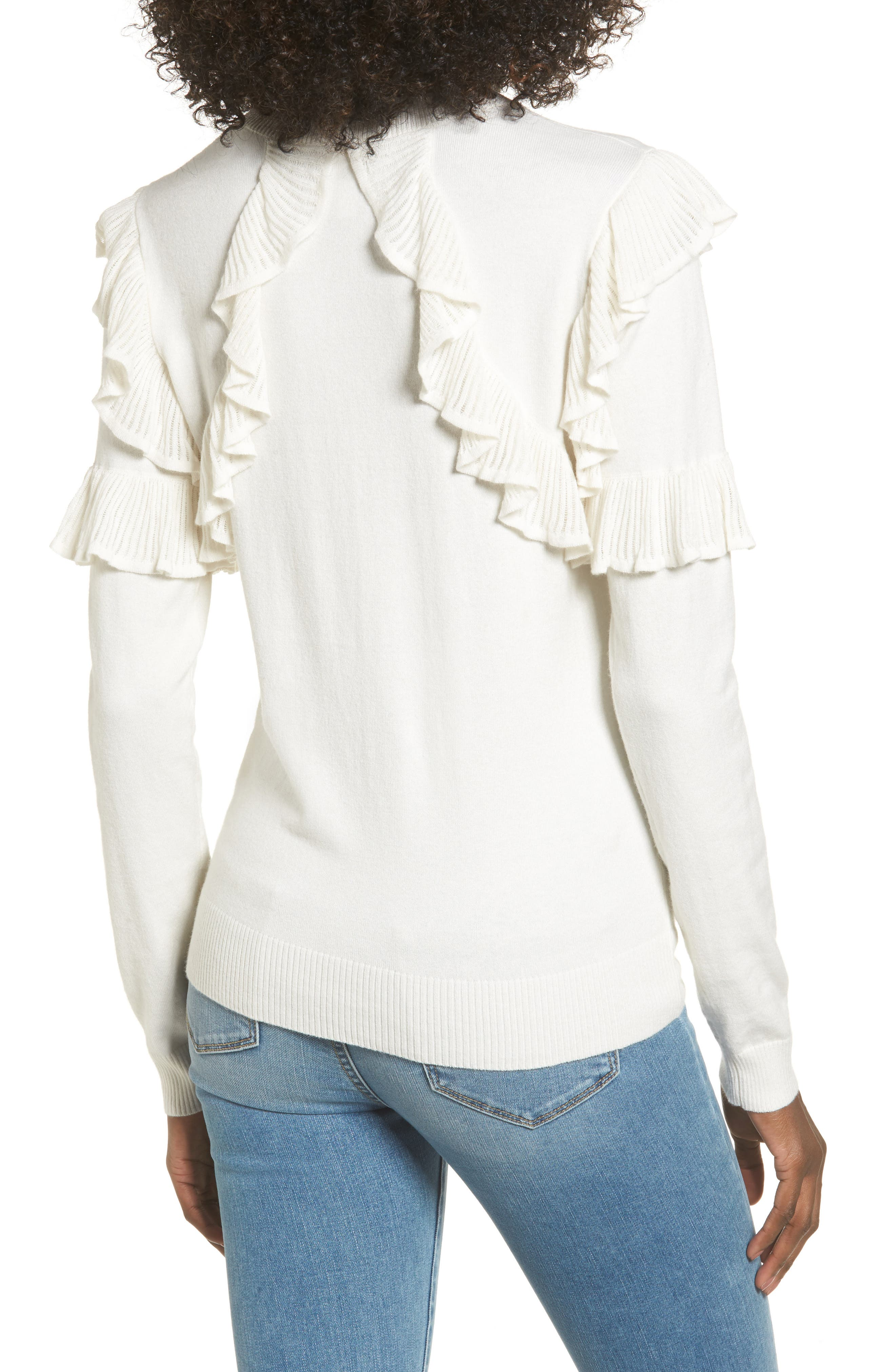 Alternate Image 2  - Leith Ruffle Trim Sweater
