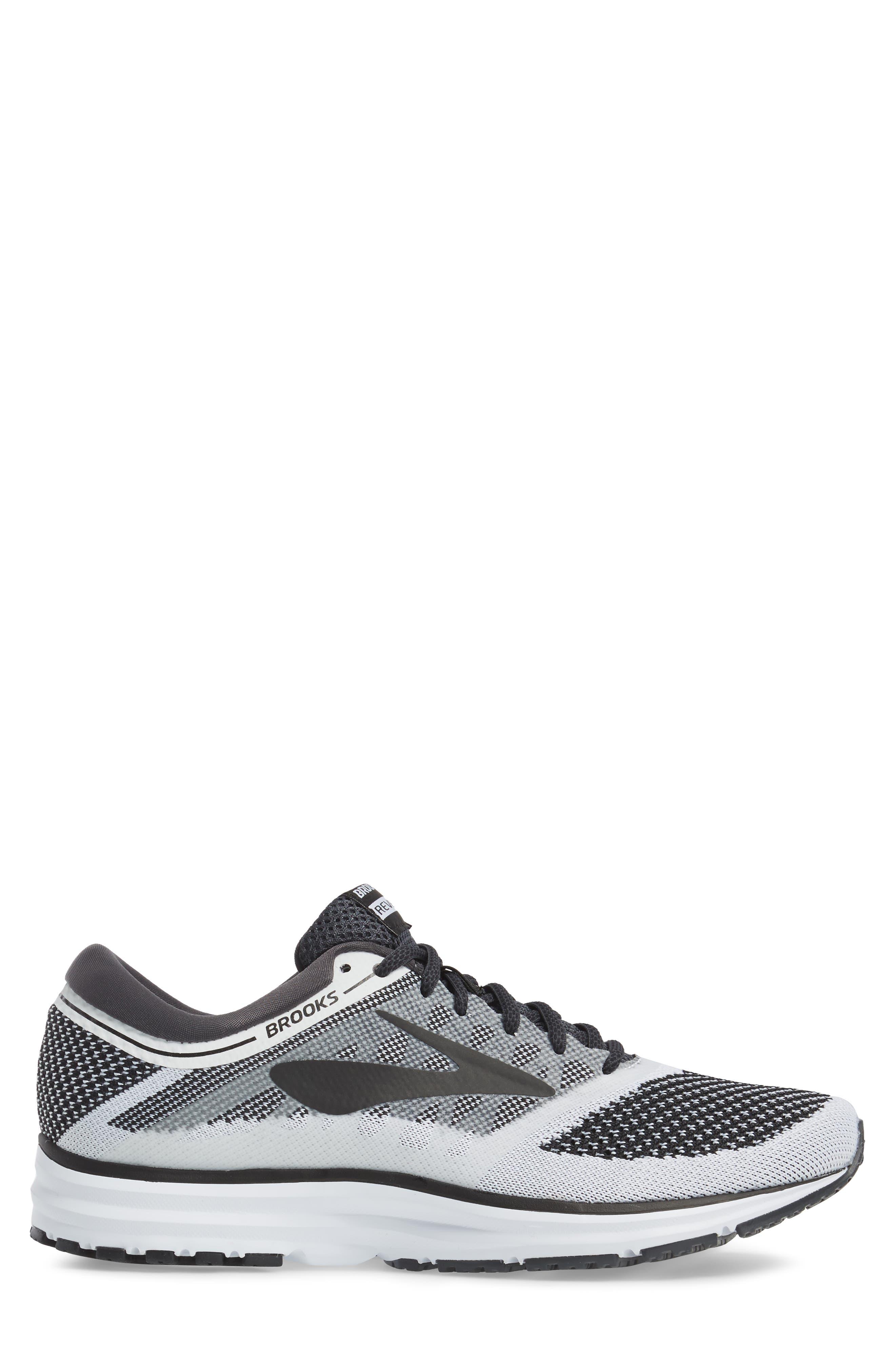Revel Sneaker,                             Alternate thumbnail 3, color,                             White/ Anthracite/ Black