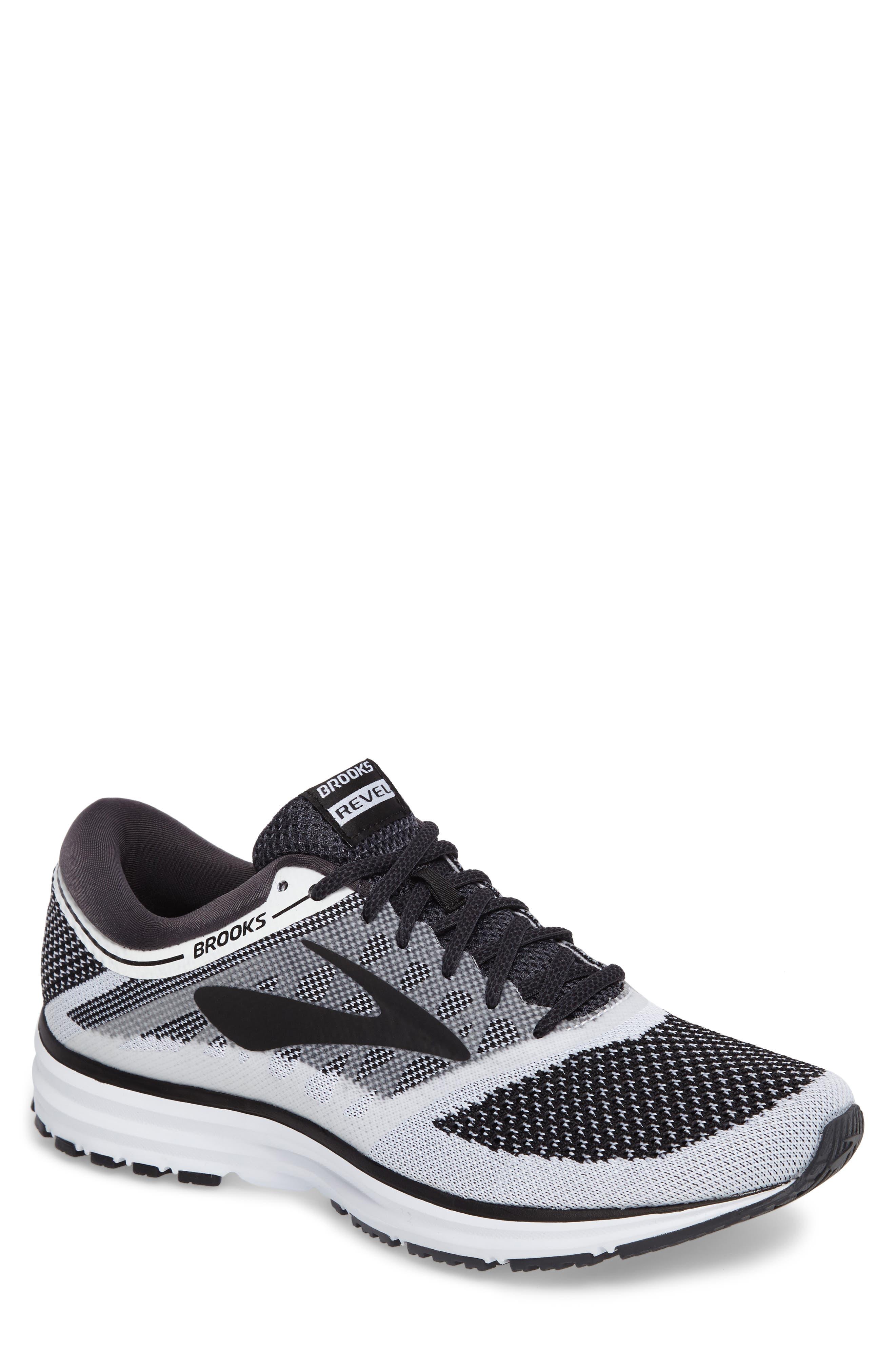 Revel Sneaker,                         Main,                         color, White/ Anthracite/ Black