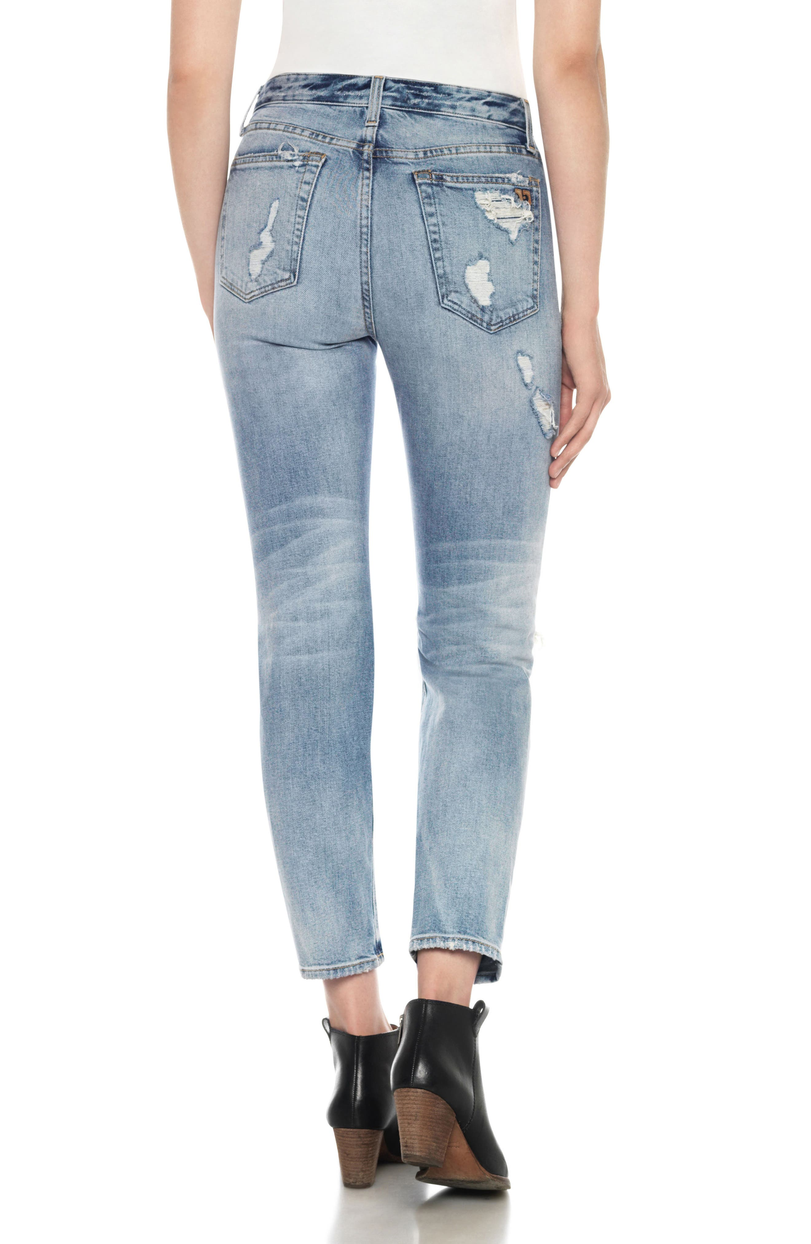 Classics Debbie High Waist Ankle Straight Leg Jeans,                             Alternate thumbnail 2, color,                             Serafina
