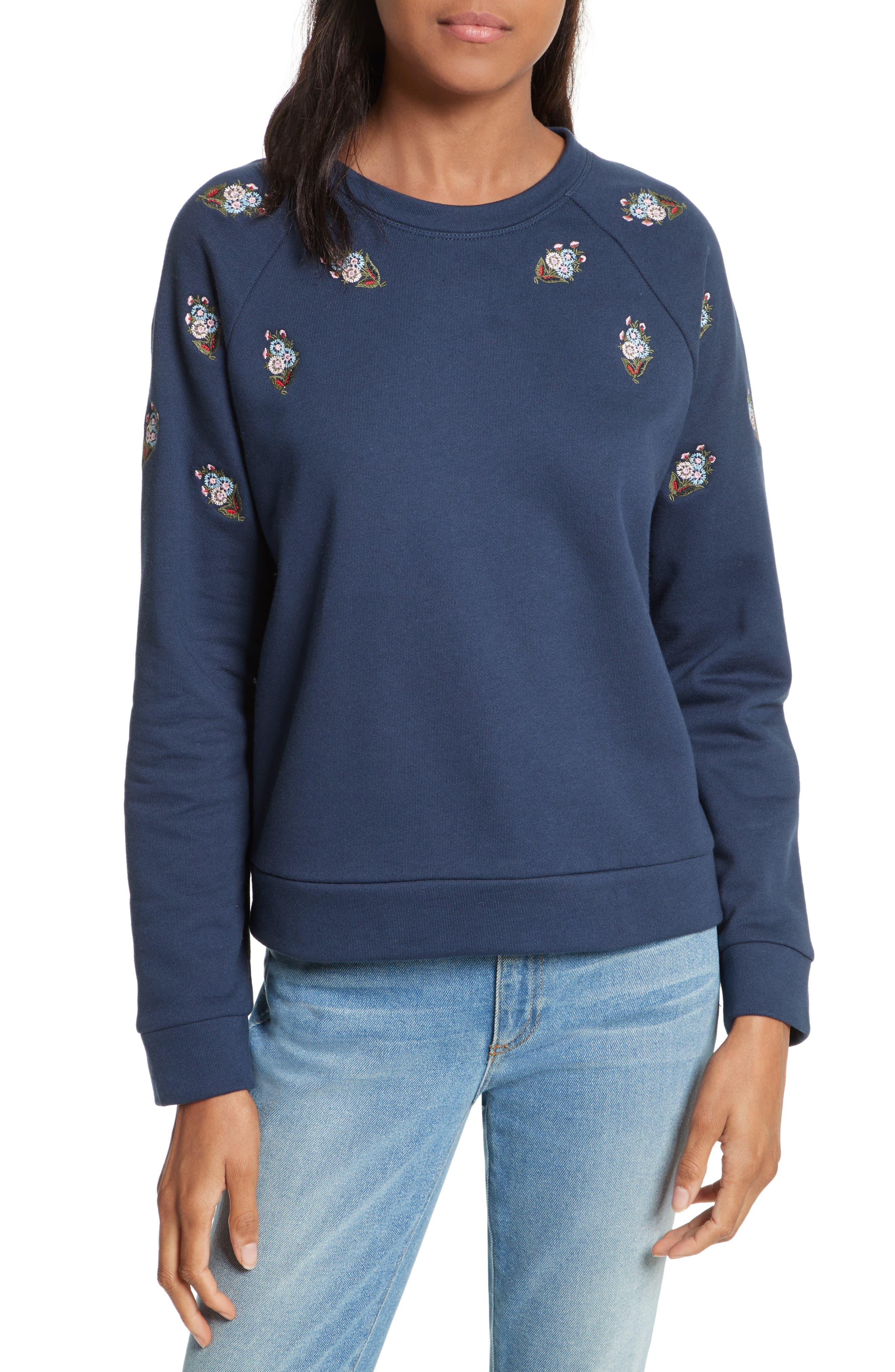Rebecca Minkoff Antonia Embroidered Sweatshirt