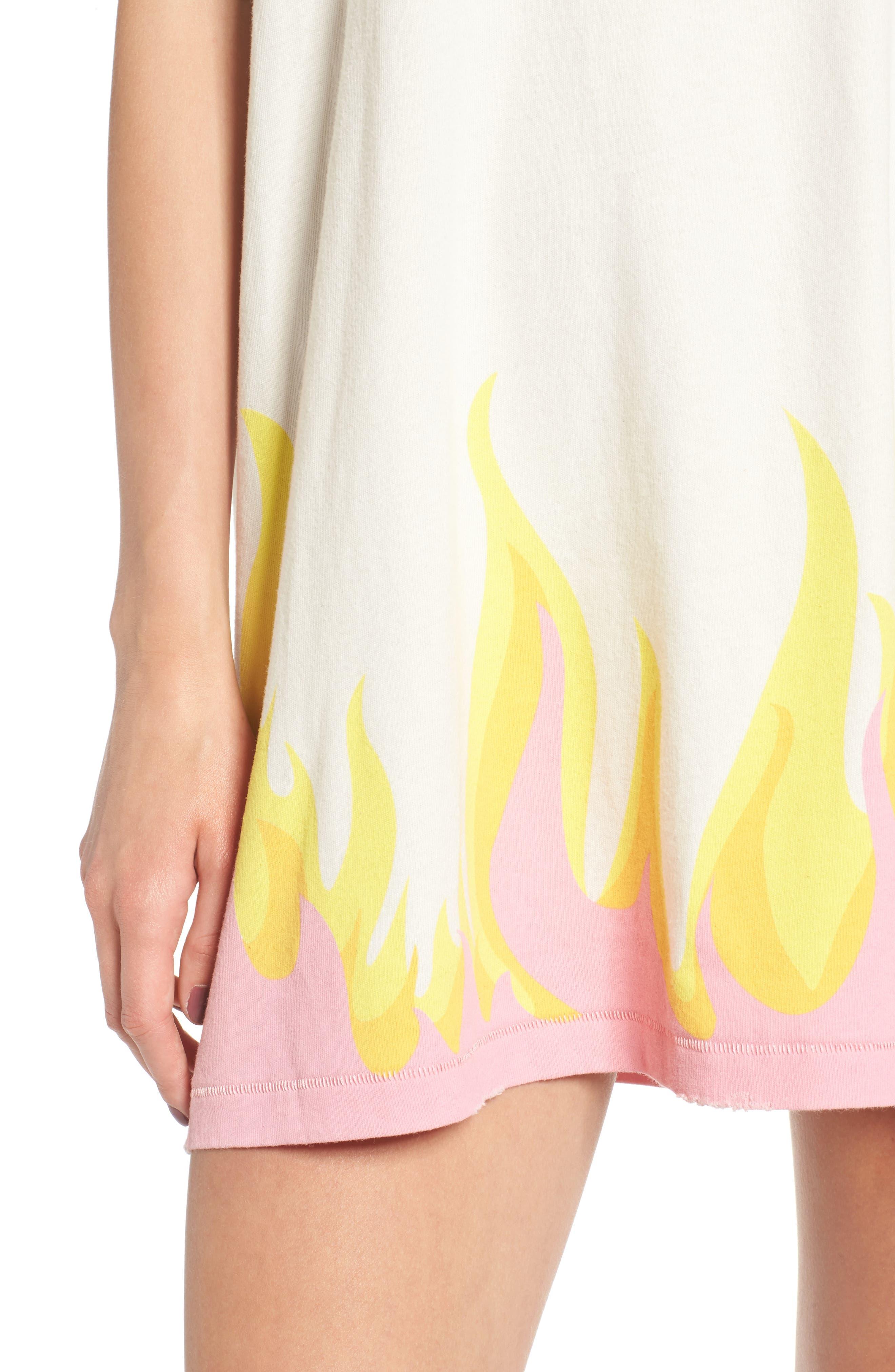 Wildfire T-Shirt Dress,                             Alternate thumbnail 5, color,                             Vintage Lace