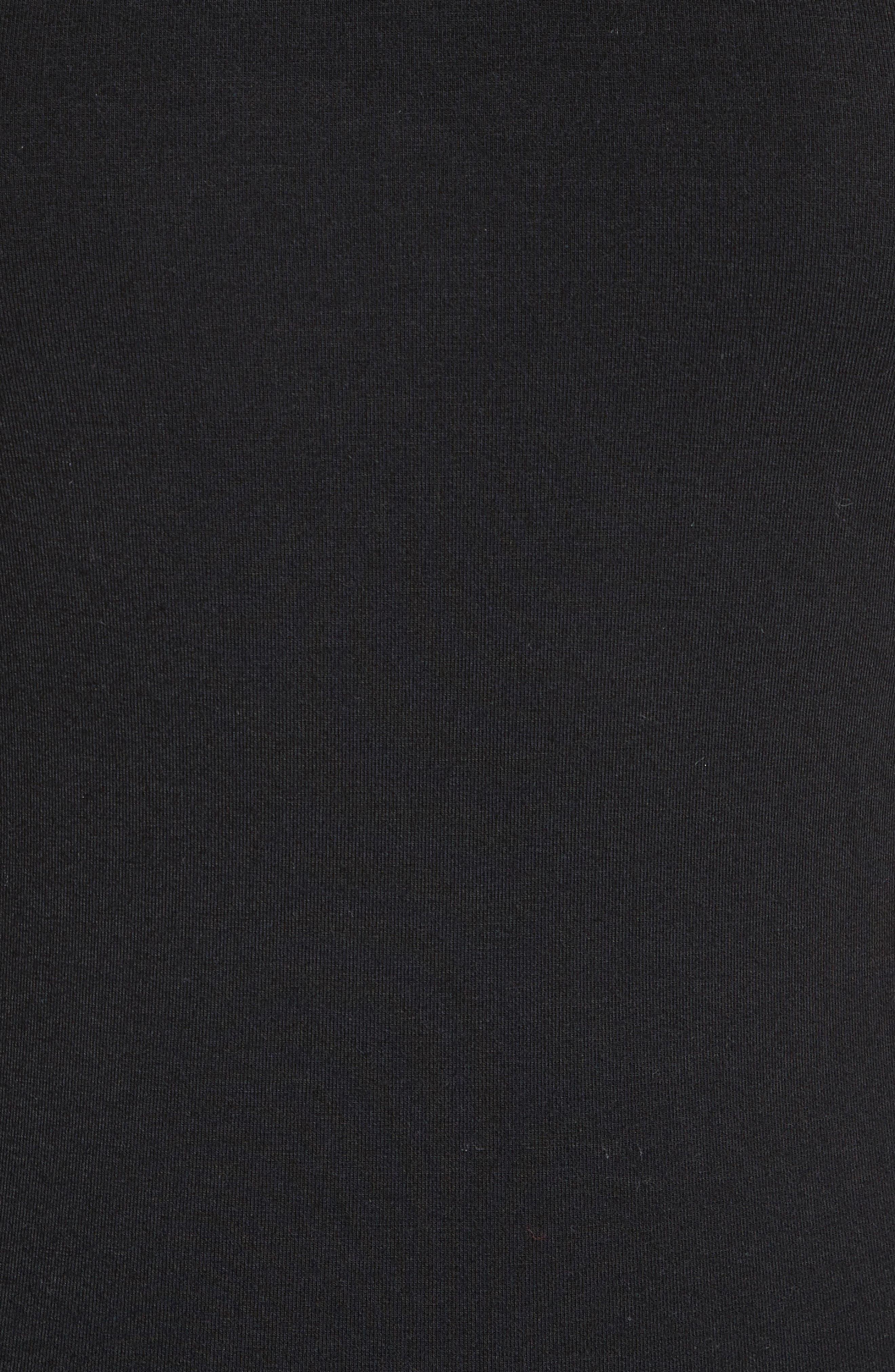 Cutaway Stretch Jersey Bodysuit,                             Alternate thumbnail 5, color,                             Black