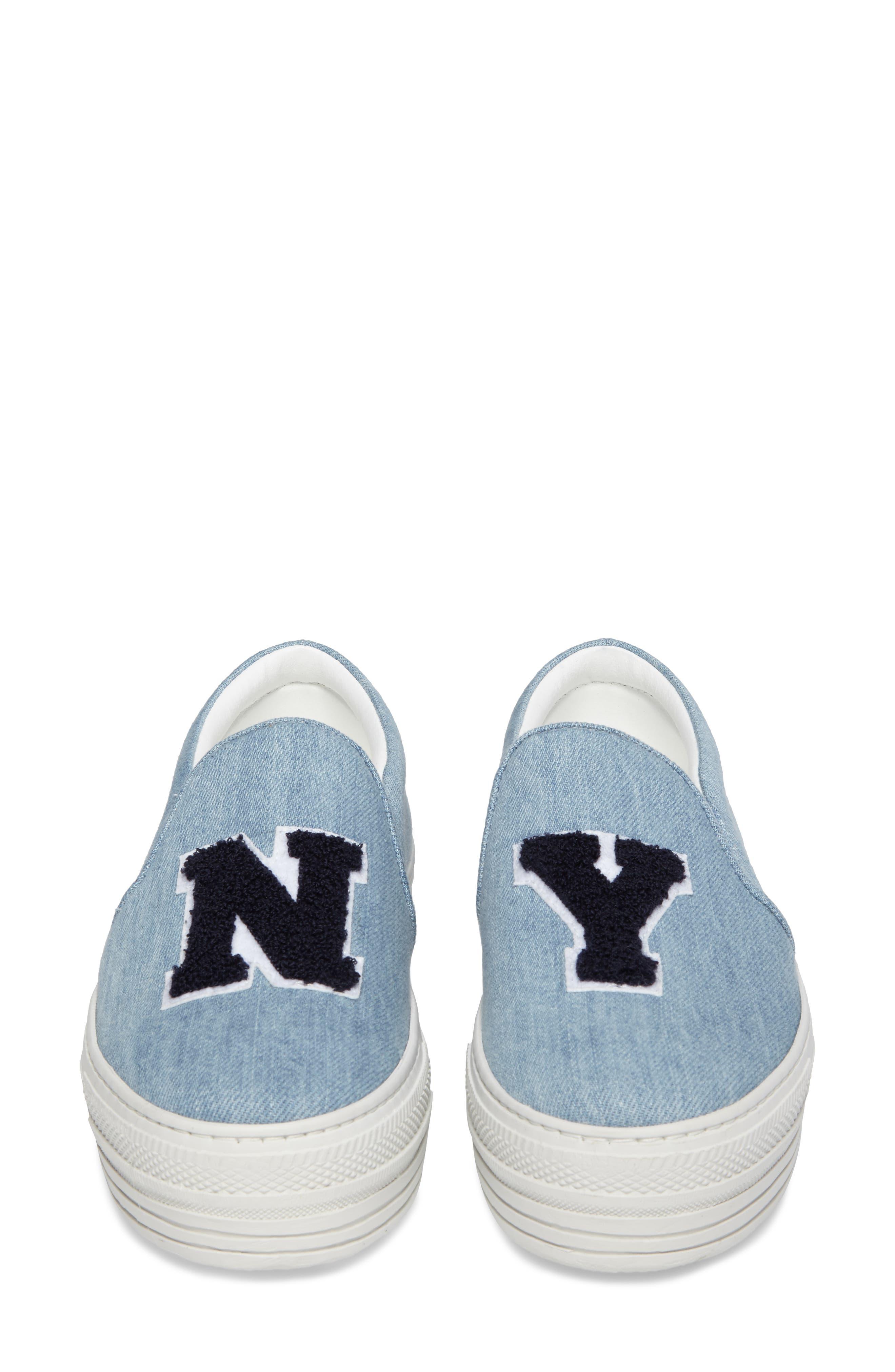 Slip-On Sneaker,                             Alternate thumbnail 5, color,                             Light Denim
